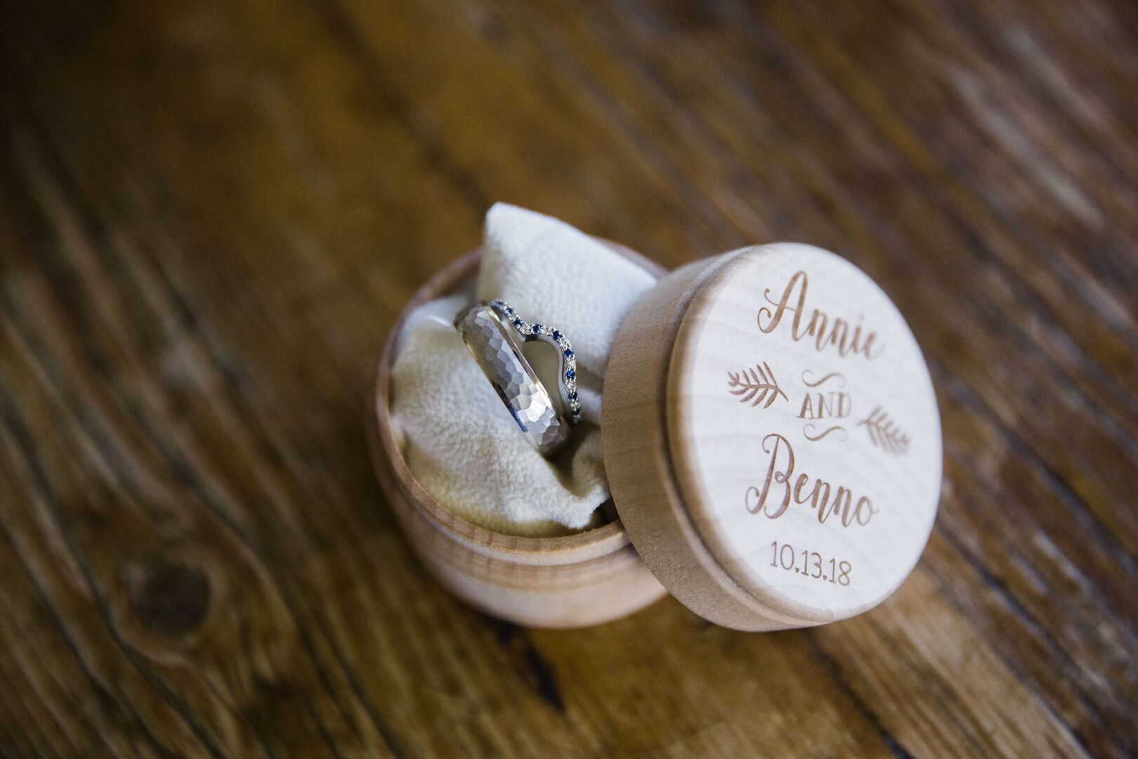 www.santabarbarawedding.com | Venue: Firestone Vineyard | Photographer: Just Kiss Collective |  Weddings Rings in Ring Box