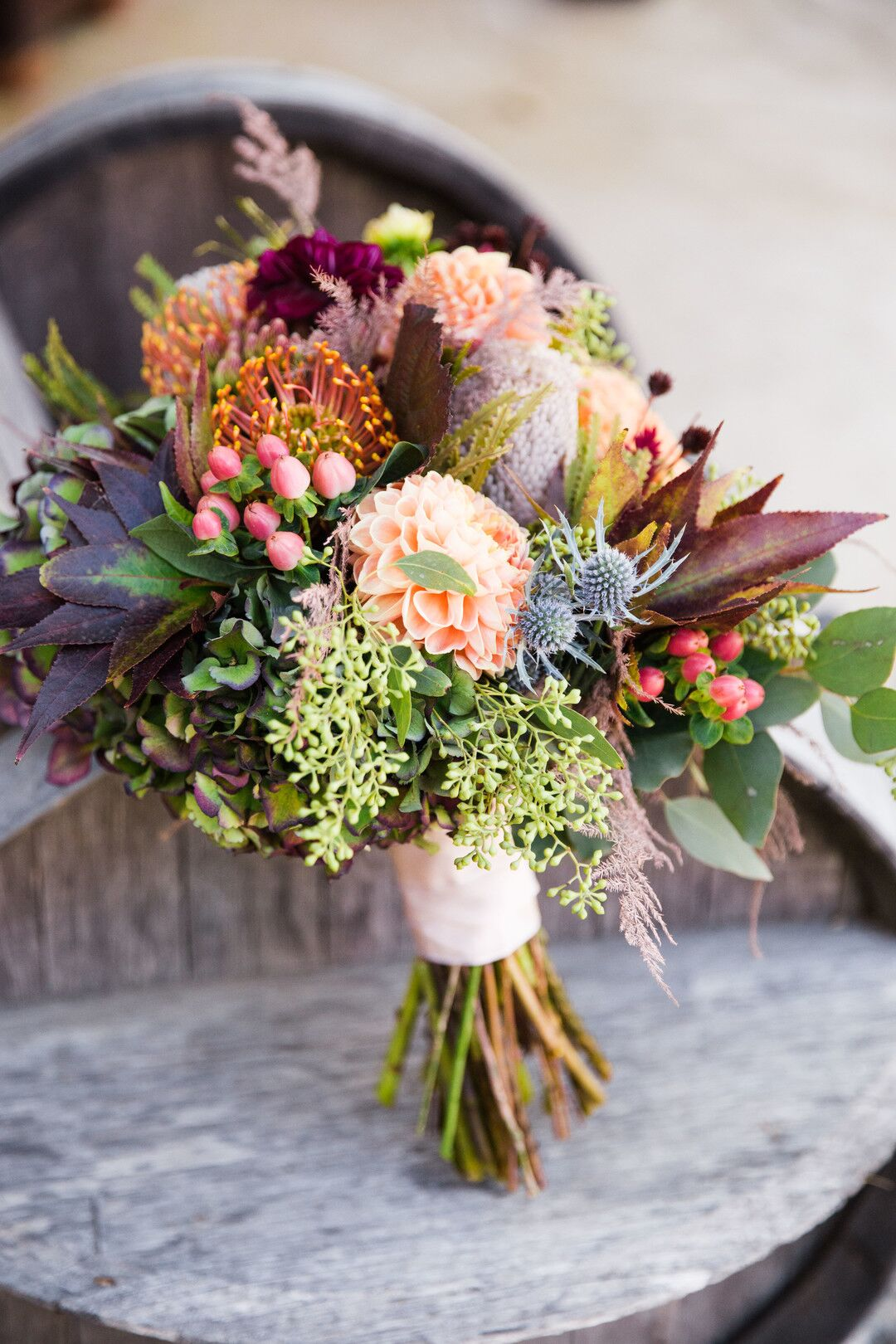 www.santabarbarawedding.com | Venue: Firestone Vineyard | Photographer: Just Kiss Collective | Bridal Bouquet