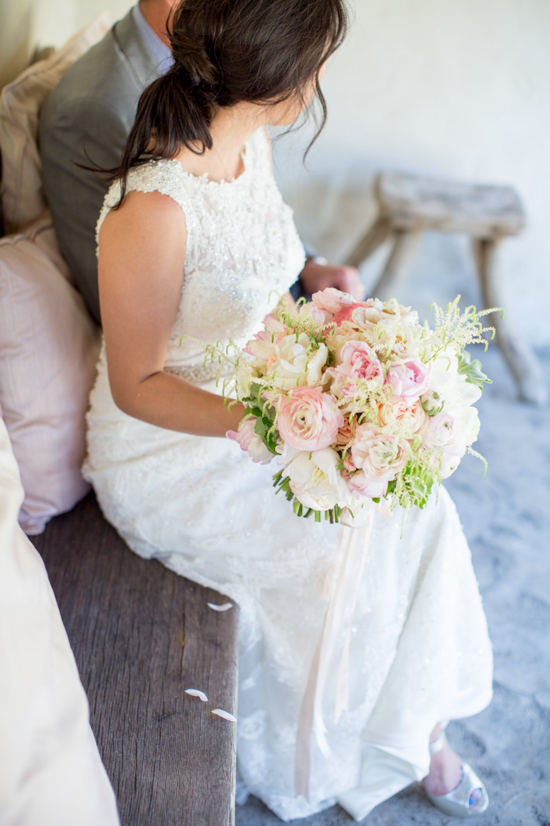 www.santabarbarawedding.com | Michael + Anna Costa Photography | San Ysidro Ranch | Twine Events | Coco Rose Design | Bride and Her Bouquet