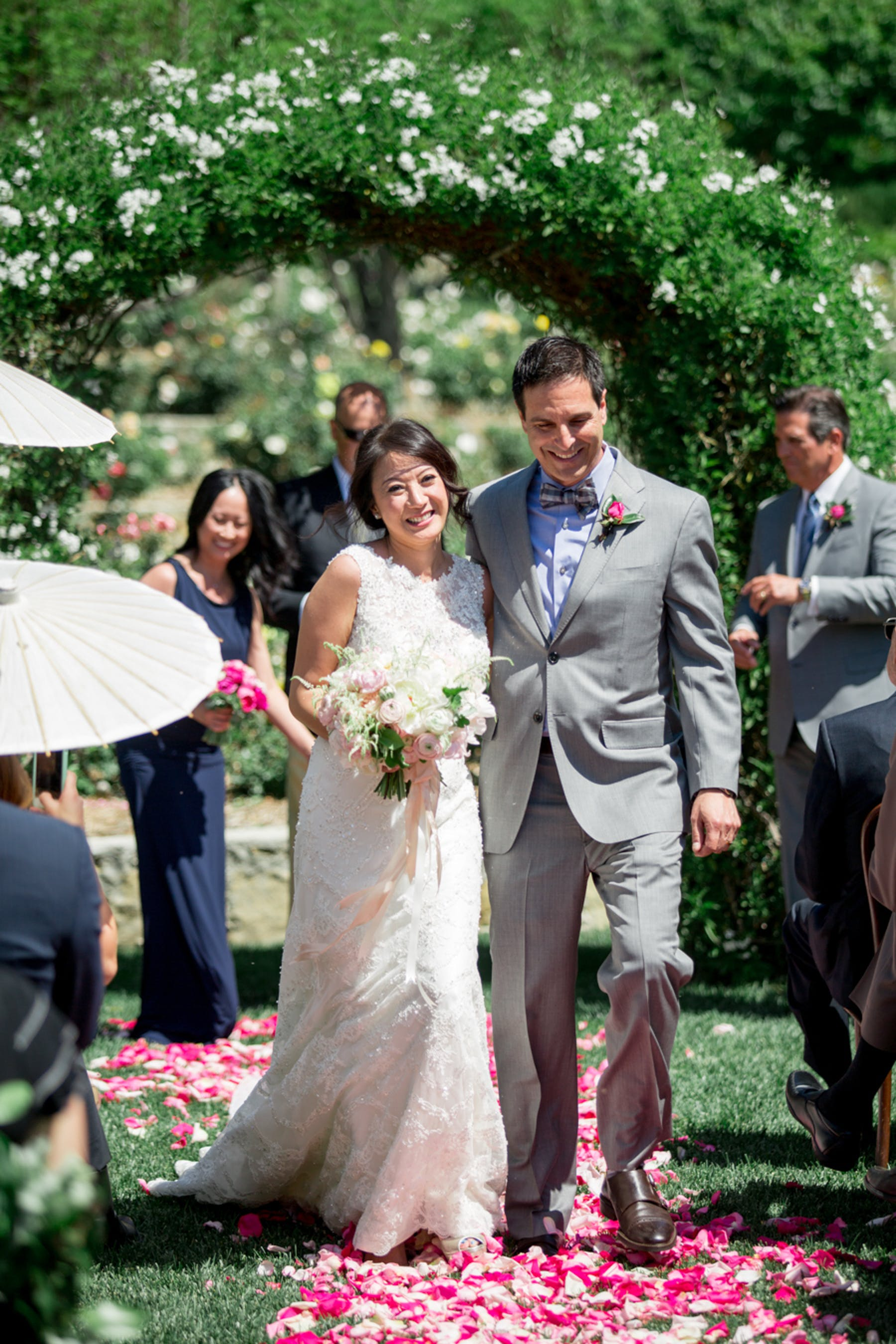 www.santabarbarawedding.com | Michael + Anna Costa Photography | San Ysidro Ranch | Twine Events | The Bride and Groom Leaving the Ceremony