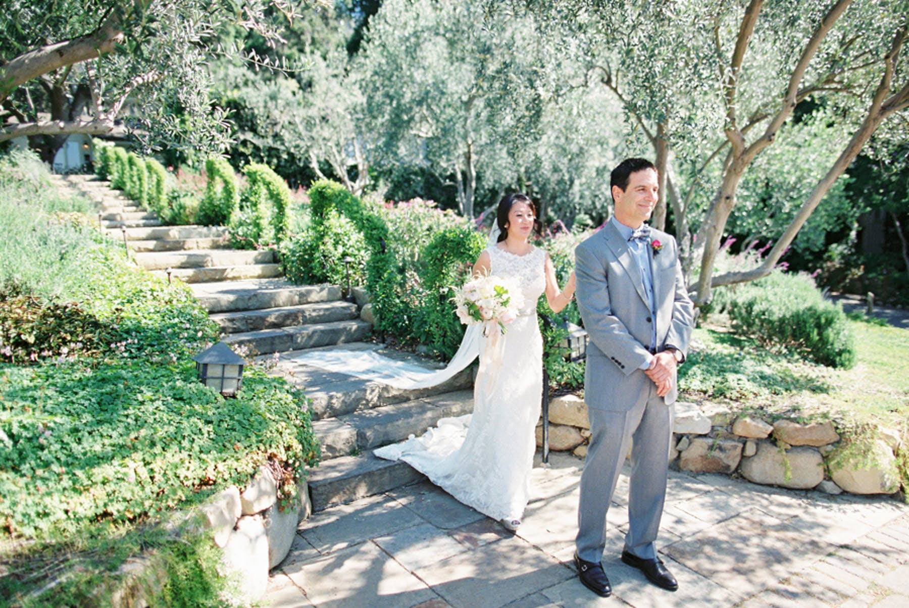 www.santabarbarawedding.com | Michael + Anna Costa Photography | San Ysidro Ranch | Twine Events | Bride Surprises Groom