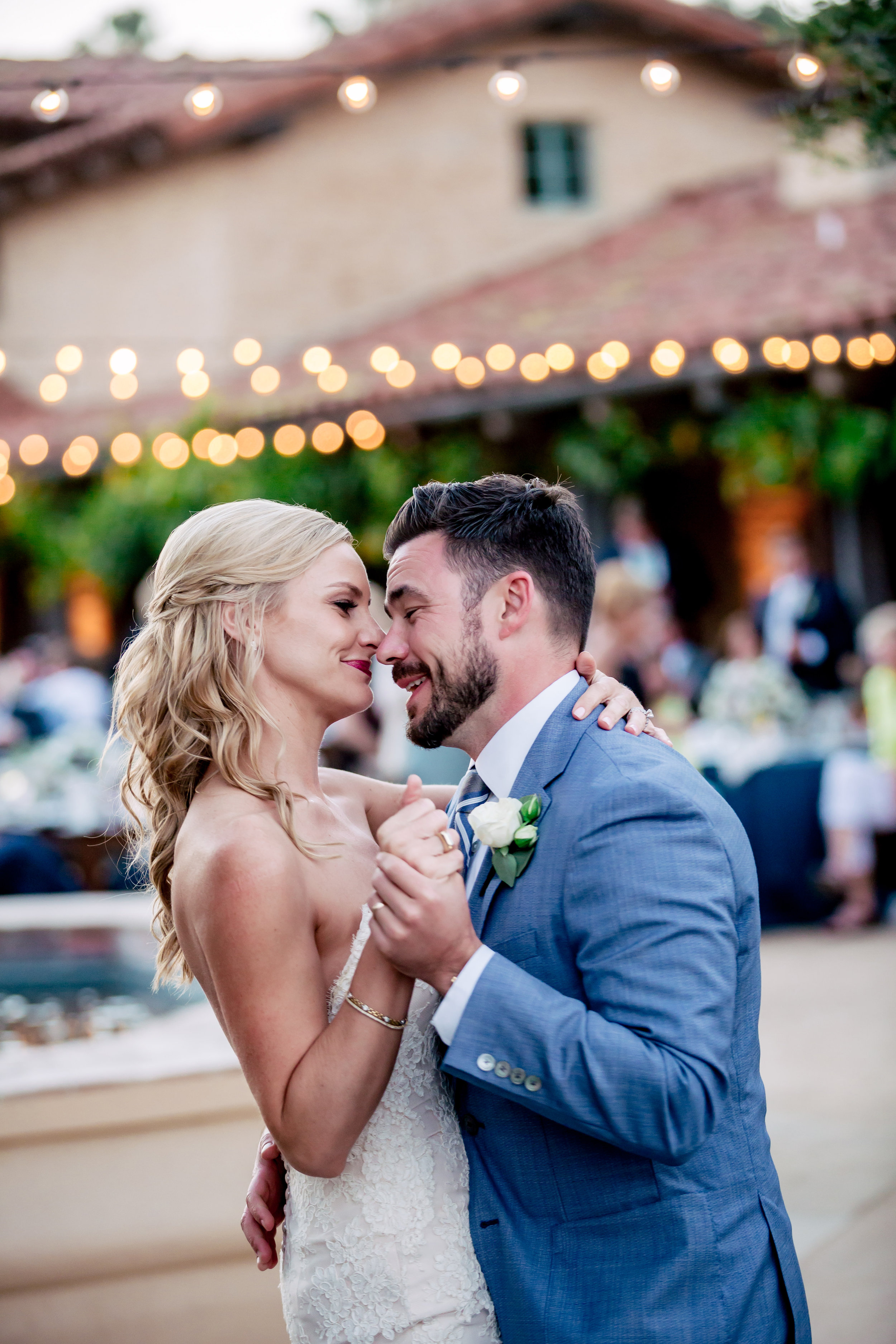www.santabarbarawedding.com | Rewind Photography | Santa Barbara Historical Museum | Events by M and M | The Couple Shares Their First Dance