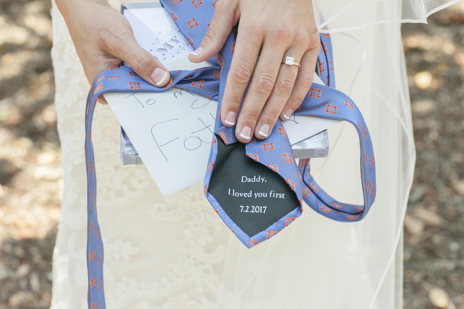 www.santabarbarawedding.com | Venue: Dos Pueblos Ranch | Photographer: ByCherry Photography | Event Designer: Elan Event Rentals |  Father of the Bride's Tie
