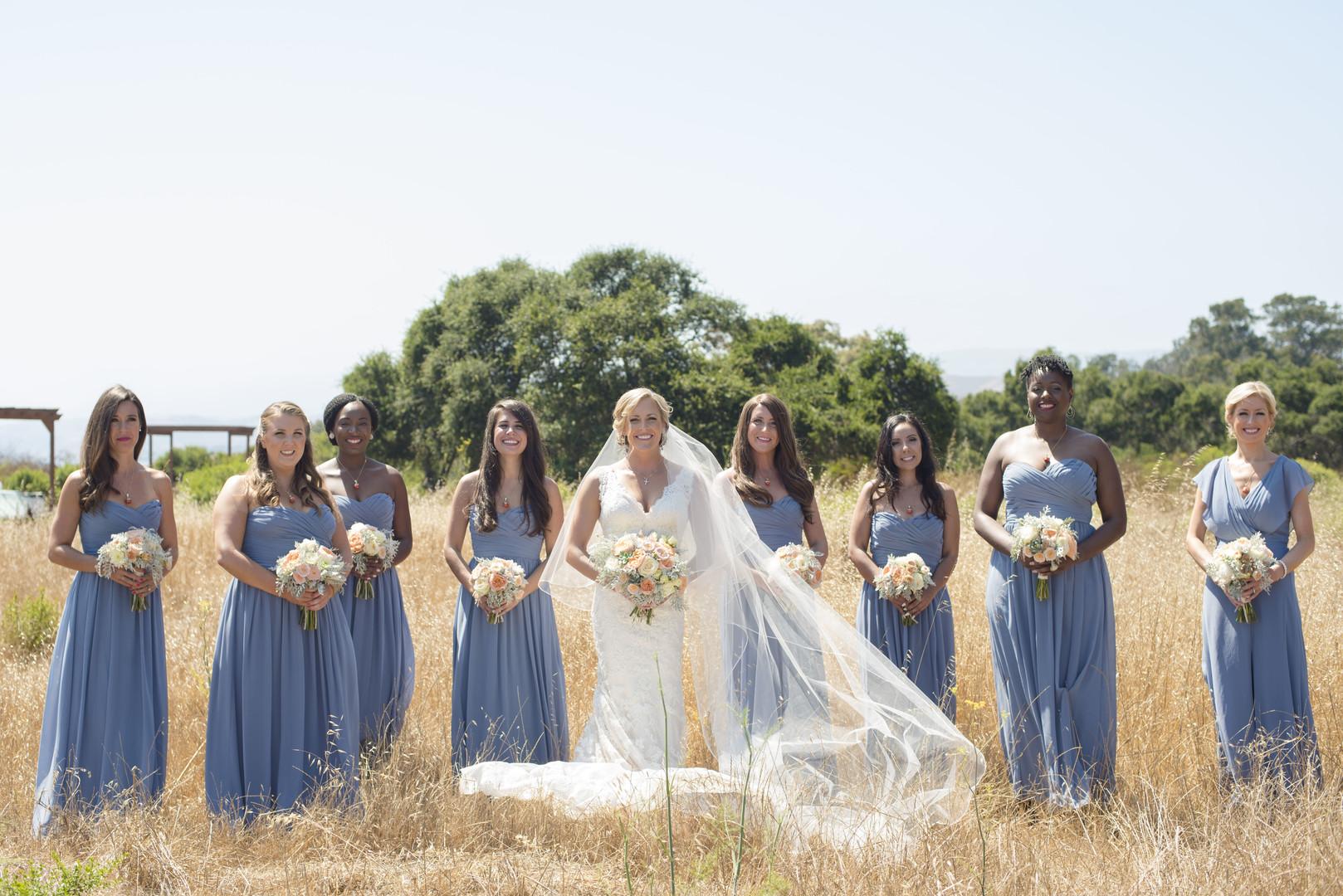 www.santabarbarawedding.com | Venue: Dos Pueblos Ranch | Photographer: ByCherry Photography | Event Designer: Elan Event Rentals | Hair: Style Me Kristi | Bridal Party
