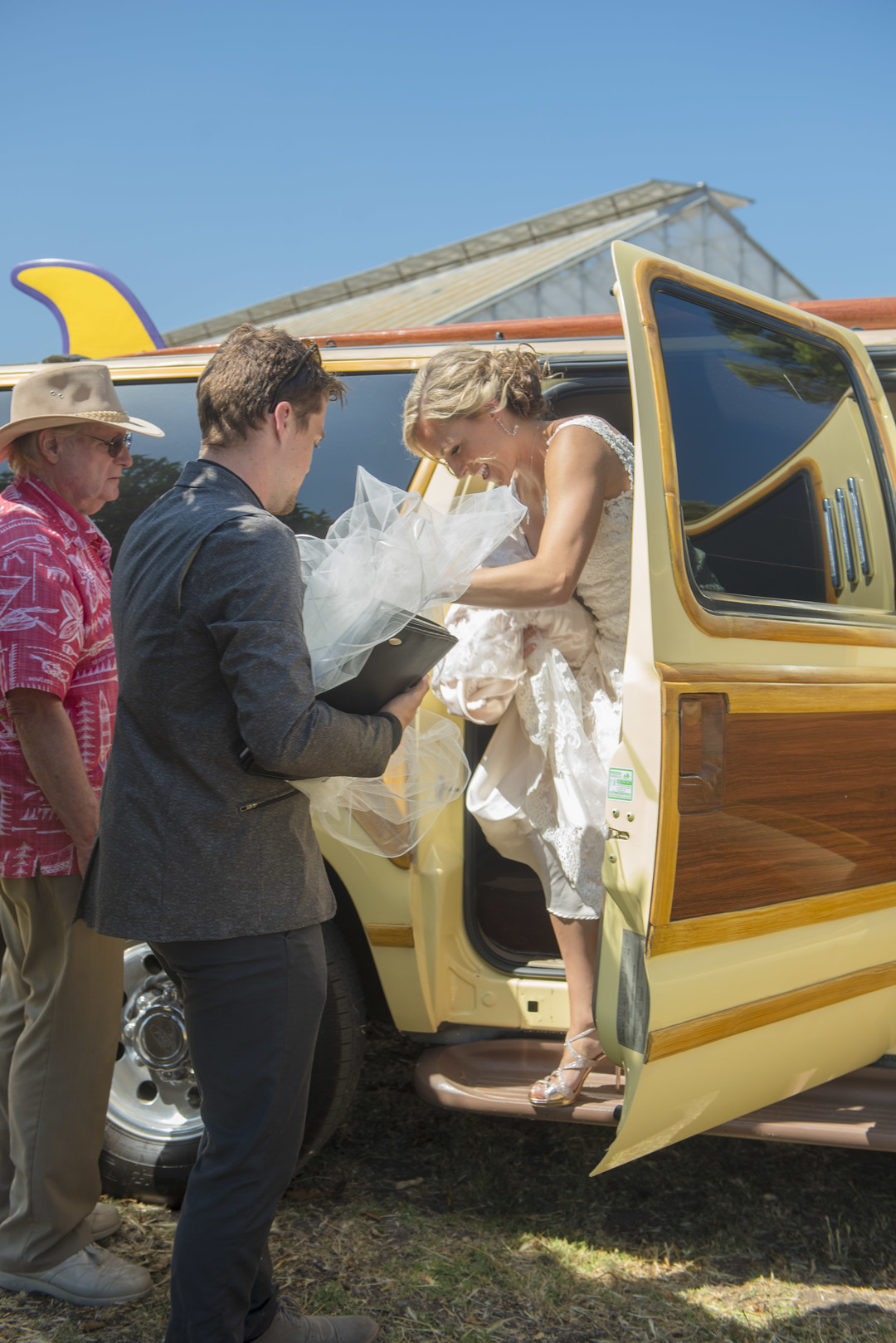 www.santabarbarawedding.com | Venue: Dos Pueblos Ranch | Photographer: ByCherry Photography | Event Designer: Elan Event Rentals | Transportation: Jump on the School Bus | Bride's Entrance