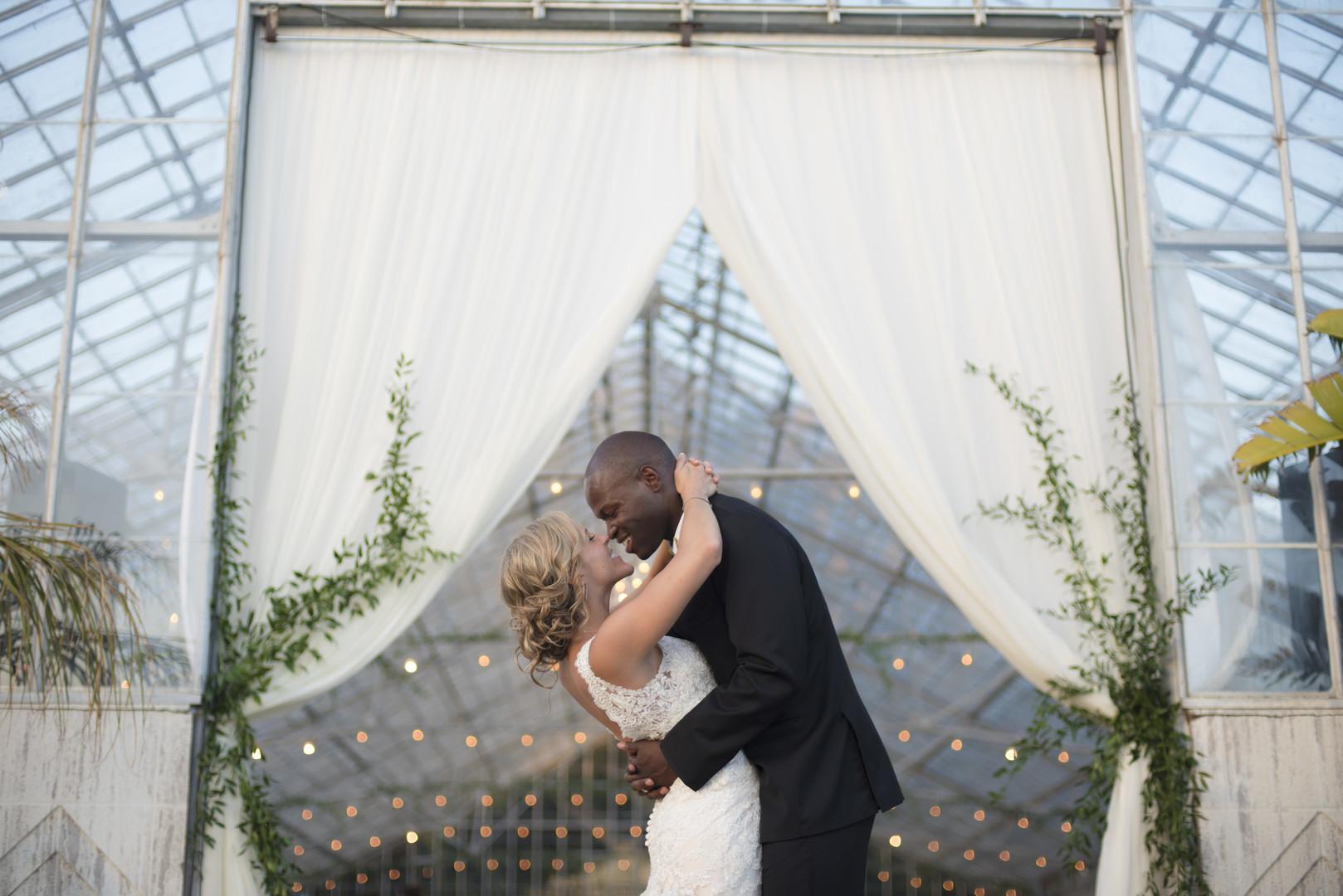 www.santabarbarawedding.com | Venue: Dos Pueblos Ranch | Photographer: ByCherry Photography | Event Designer: Elan Event Rentals | Bride and Groom Kiss at Reception Site