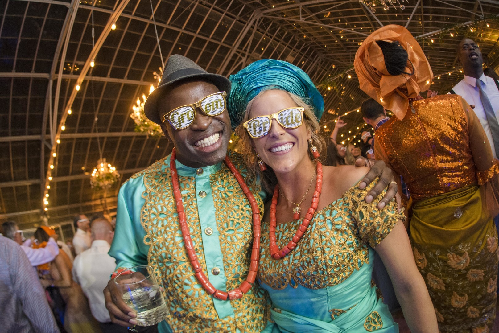 www.santabarbarawedding.com | Venue: Dos Pueblos Ranch | Photographer: ByCherry Photography | Event Designer: Elan Event Rentals | Bride and Groom in Custom Glasses