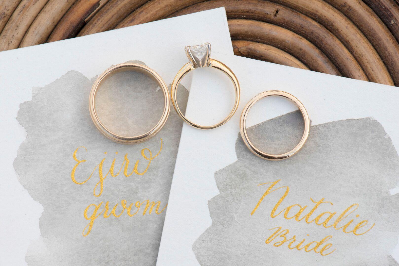 www.santabarbarawedding.com | Venue: Dos Pueblos Ranch | Photographer: ByCherry Photography | Event Designer: Elan Event Rentals | Calligrapher: Jessica Yee Calligraphy | Wedding Rings