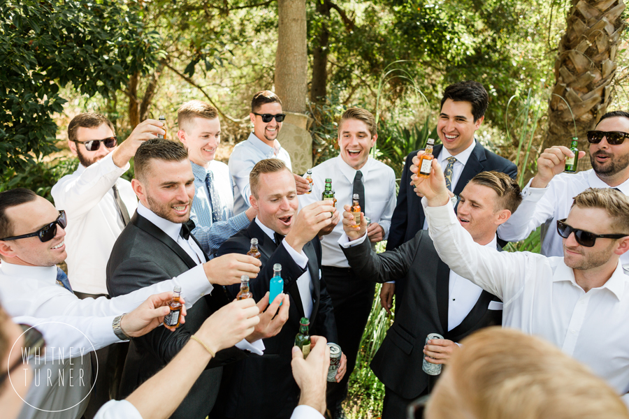www.santabarbarawedding.com | Whitney Turner Photography | Santa Barbara Historical Museum | Immaginare Events | Catering Connection | Groomsmen Drink to the Groom