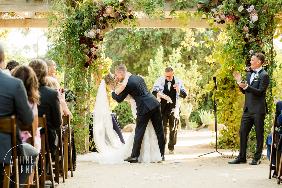www.santabarbarawedding.com | Whitney Turner Photography | Santa Barbara Historical Museum | Immaginare Events | Cody Floral Design | The First Kiss