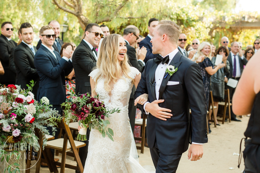 www.santabarbarawedding.com | Whitney Turner Photography | Santa Barbara Historical Museum | Immaginare Events | Cody Floral Design | Bride and Groom Exit Ceremony