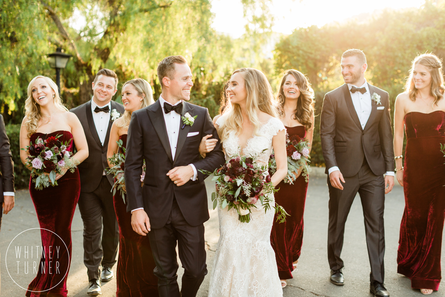 www.santabarbarawedding.com | Whitney Turner Photography | Santa Barbara Historical Museum | Immaginare Events | Cody Floral Design | Bride and Groom With Bridal Party