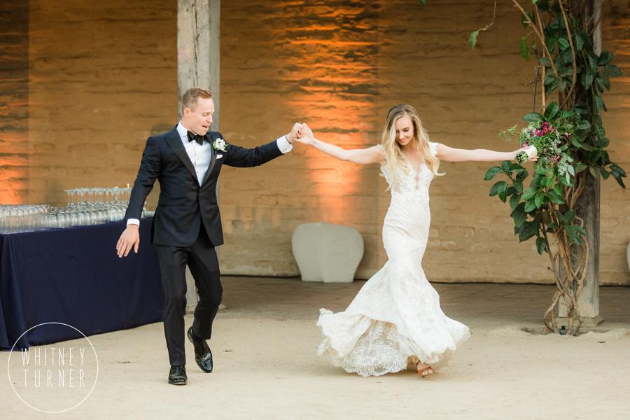 www.santabarbarawedding.com | Whitney Turner Photography | Santa Barbara Historical Museum | Immaginare Events | Ventura Party Rentals | Bride and Groom Dance