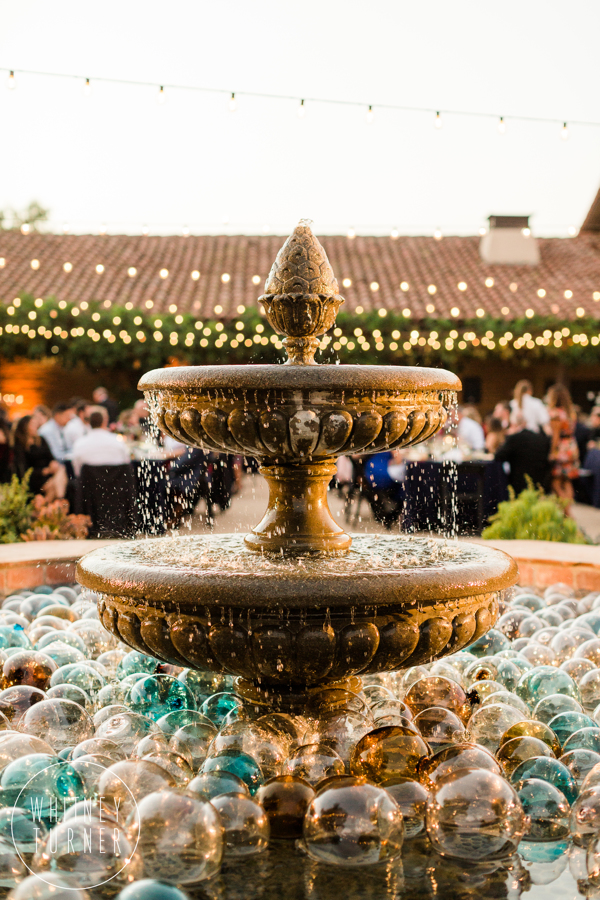 www.santabarbarawedding.com | Whitney Turner Photography | Santa Barbara Historical Museum | Immaginare Events | Ventura Party Rentals | Water Fountain