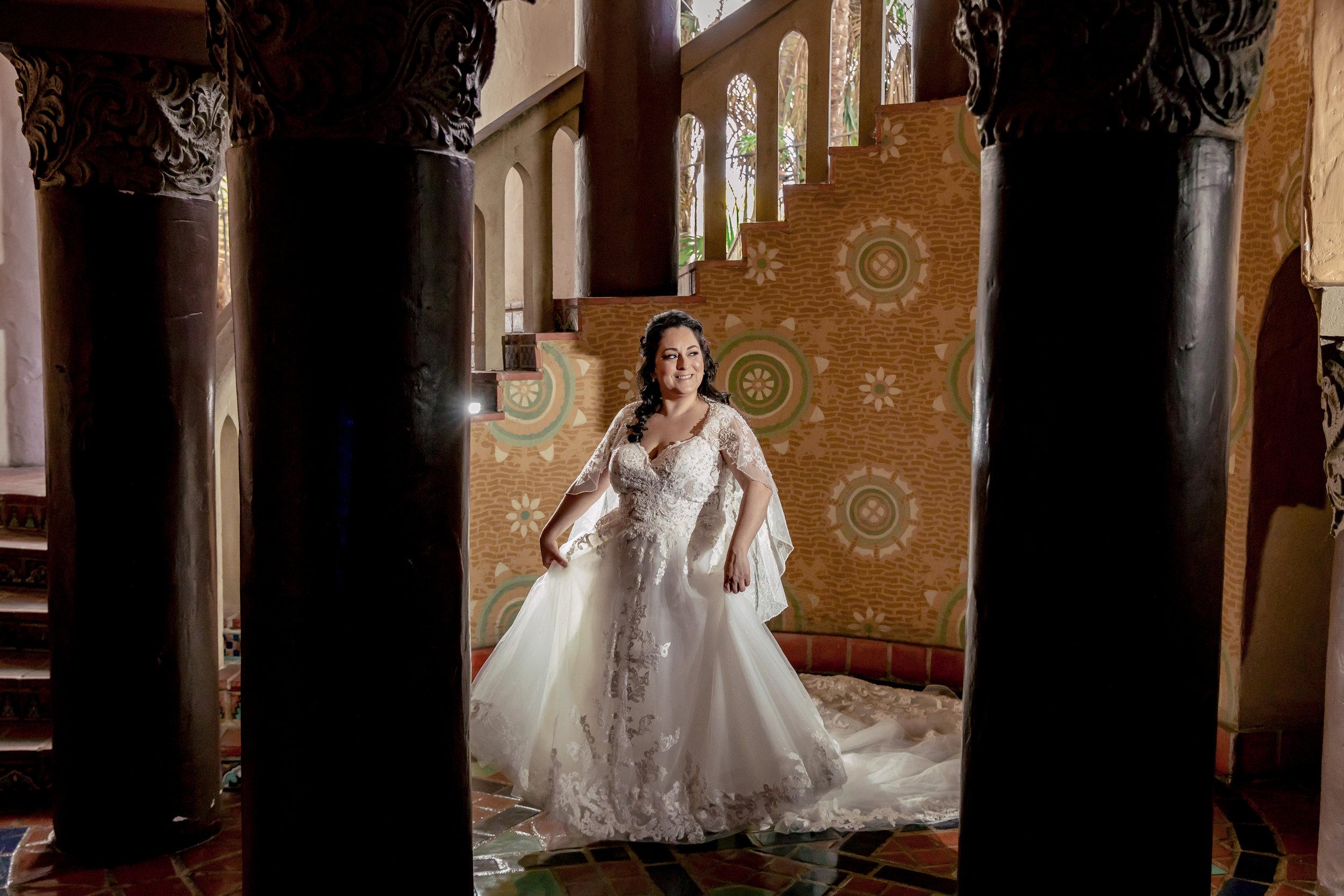 www.santabarbarawedding.com | Rewind Photography | Rockwood Women's Club | Burlap & Bordeaux | Kiss the Bride | Bride Twirls in Dress