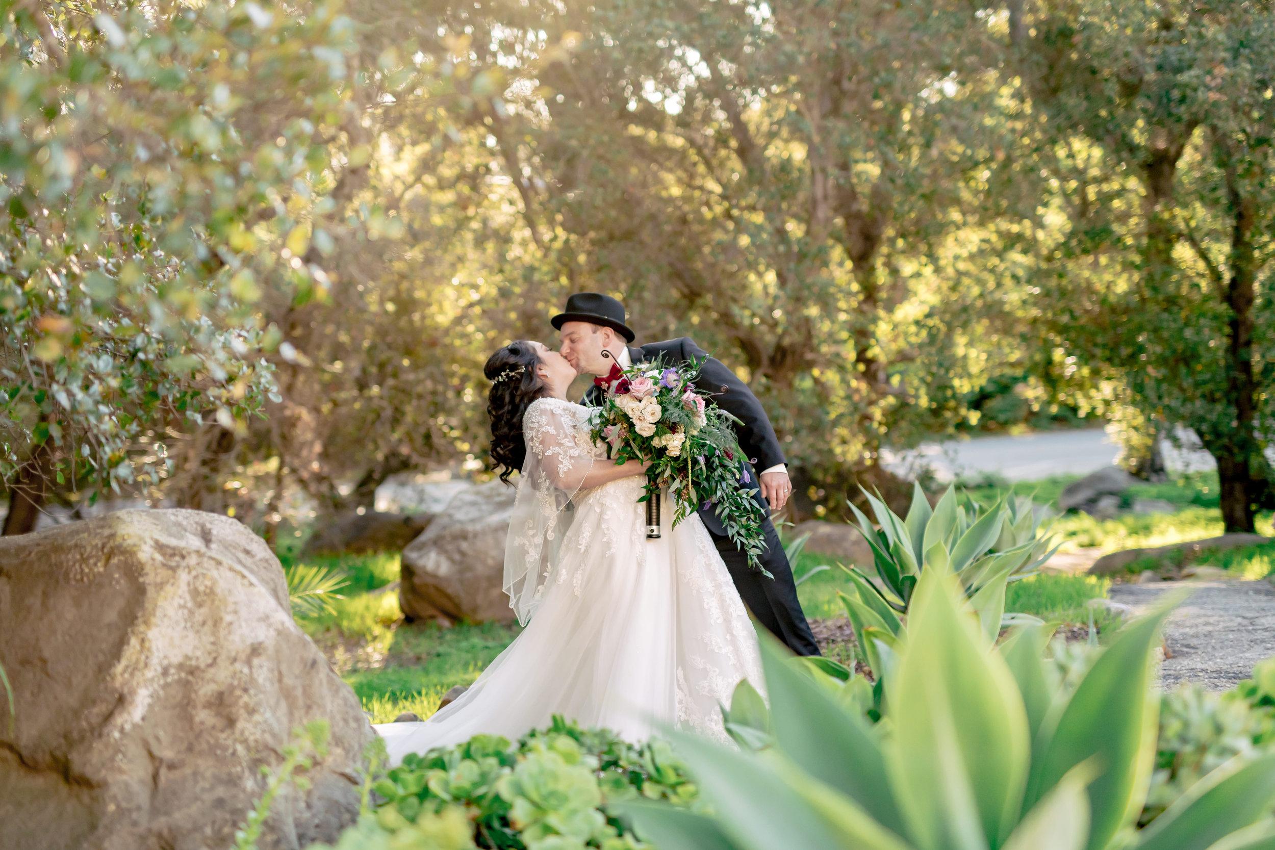 www.santabarbarawedding.com | Rewind Photography | Rockwood Women's Club | Burlap & Bordeaux | Bride and Groom Embrace