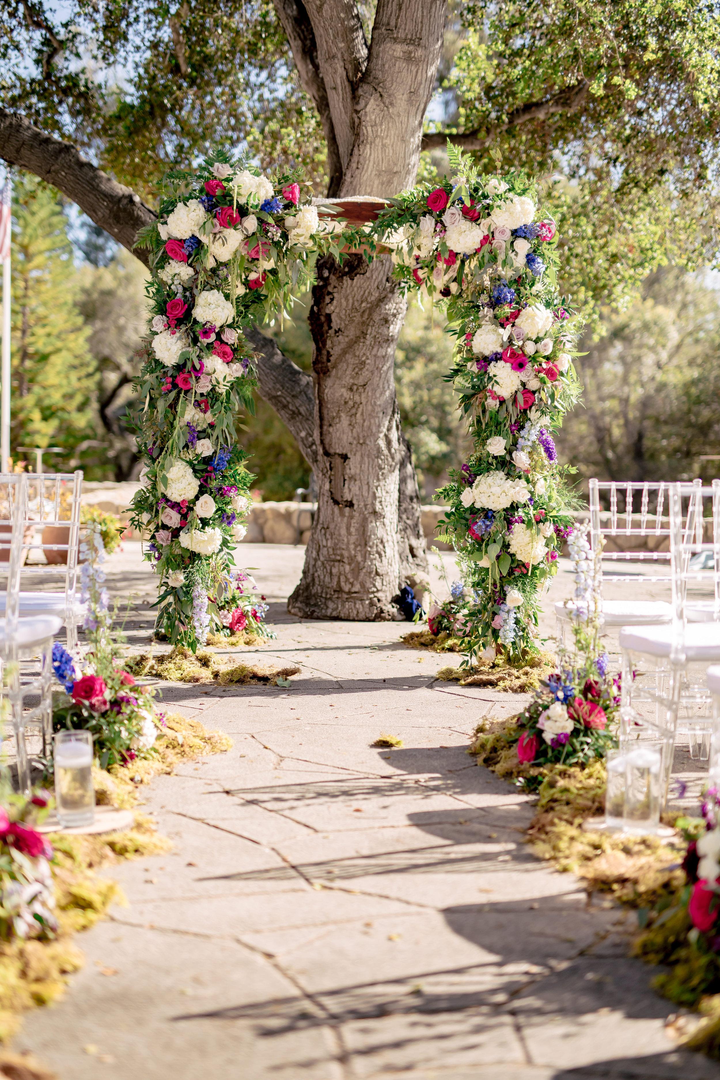 www.santabarbarawedding.com | Rewind Photography | Rockwood Women's Club | Burlap & Bordeaux | Amigo Party Rental | Flower Arbor