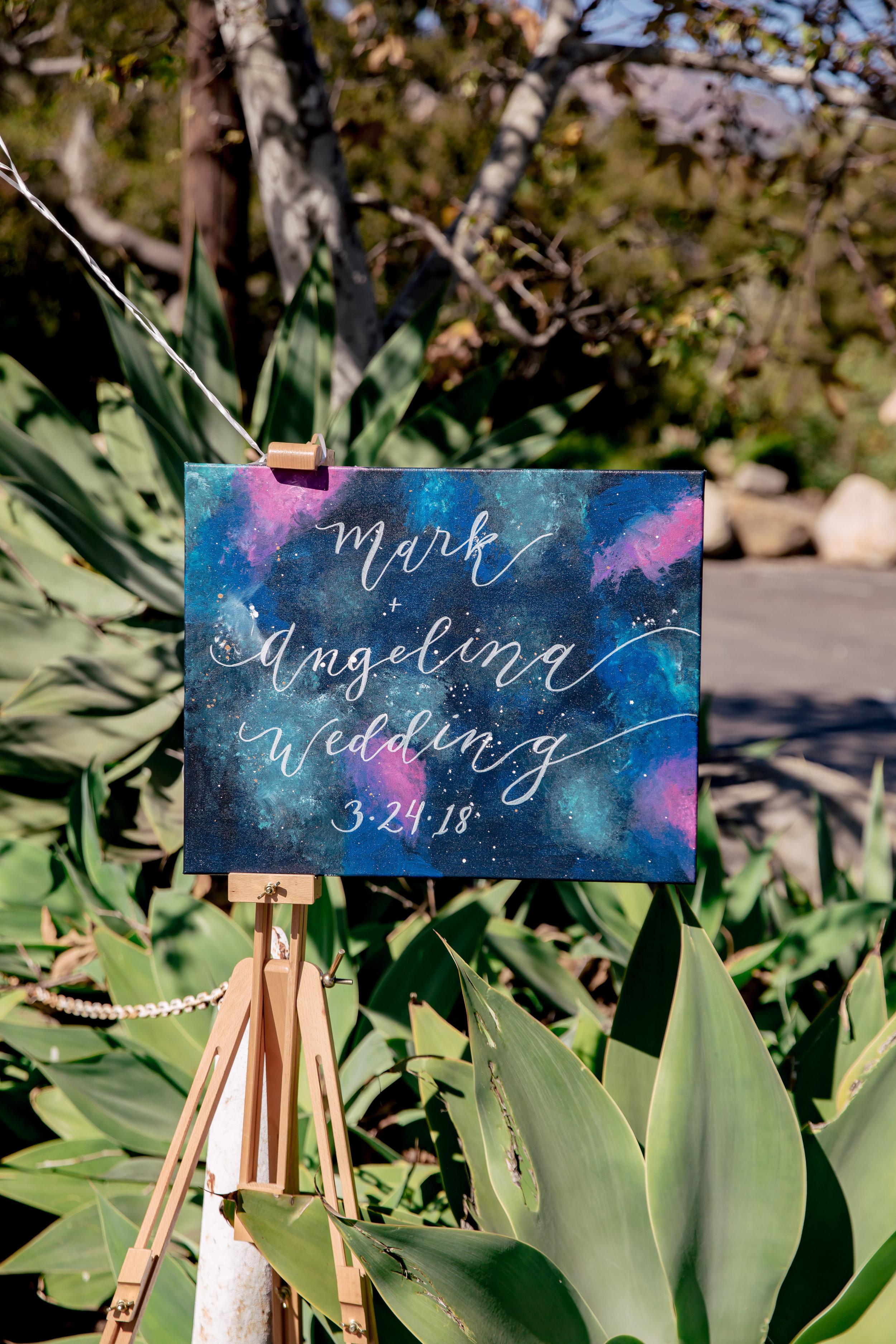 www.santabarbarawedding.com | Rewind Photography | Rockwood Women's Club | Burlap & Bordeaux | Amigo Party Rental | Galaxy Wedding Sign