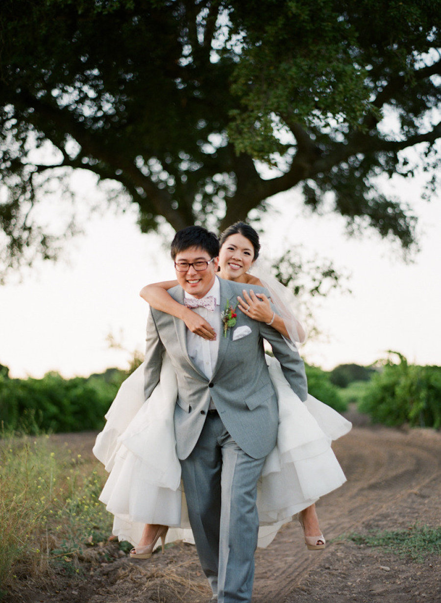 www.santabarbarawedding.com | Michael + Anna Costa Photographers | Firestone Vineyard | Soigne Productions | Anna of Crazy Design | The Couple Share a Moment