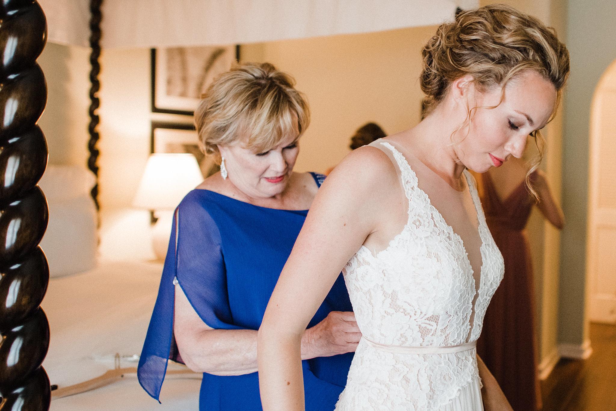 www.santabarbarawedding.com   Grace Kathryn Photography   Mission Rose Garden   Alegria by Design   Ella & Louie   Mother Helps Bride with Wedding Dress