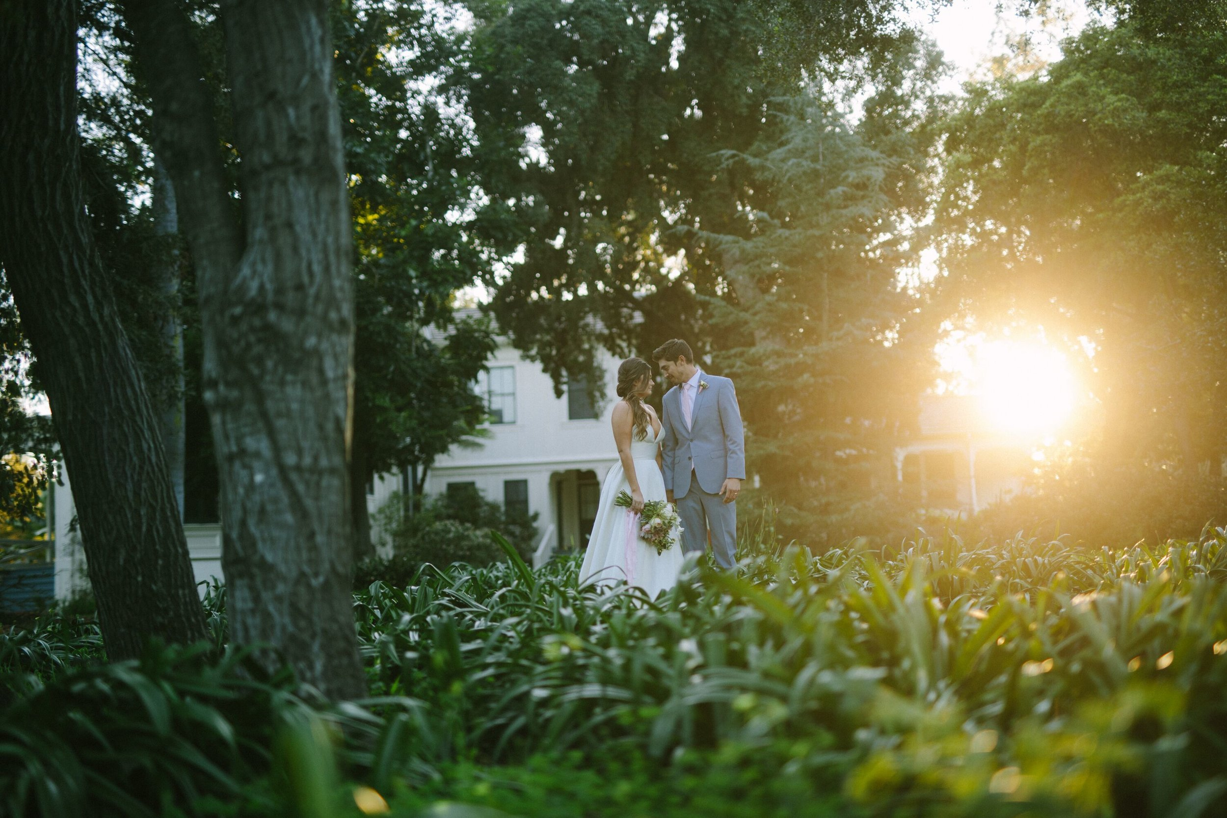 www.santabarbarawedding.com | Photographer: Patrick Ang | Venue: Rancho La Patera & Stow House | Wedding Planner: Elyse Rowen of Elyse Events | Bride and Groom in Landscape