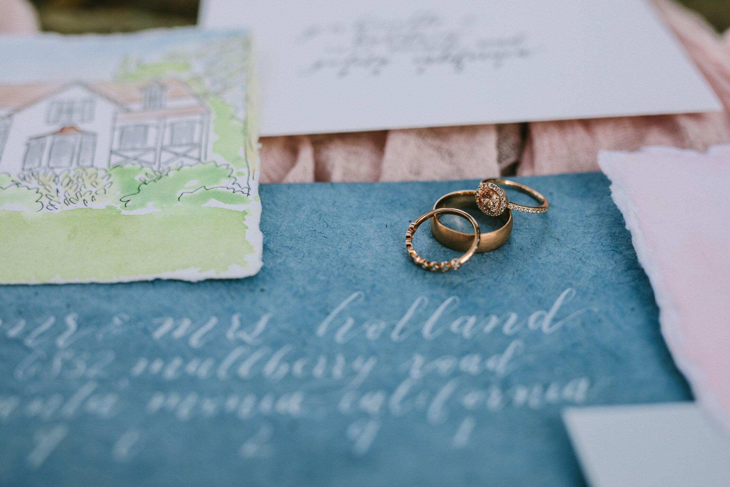 www.santabarbarawedding.com | Photographer: Patrick Ang | Venue: Rancho La Patera & Stow House | Wedding Planner: Elyse Rowen of Elyse Events | Rings - Detail