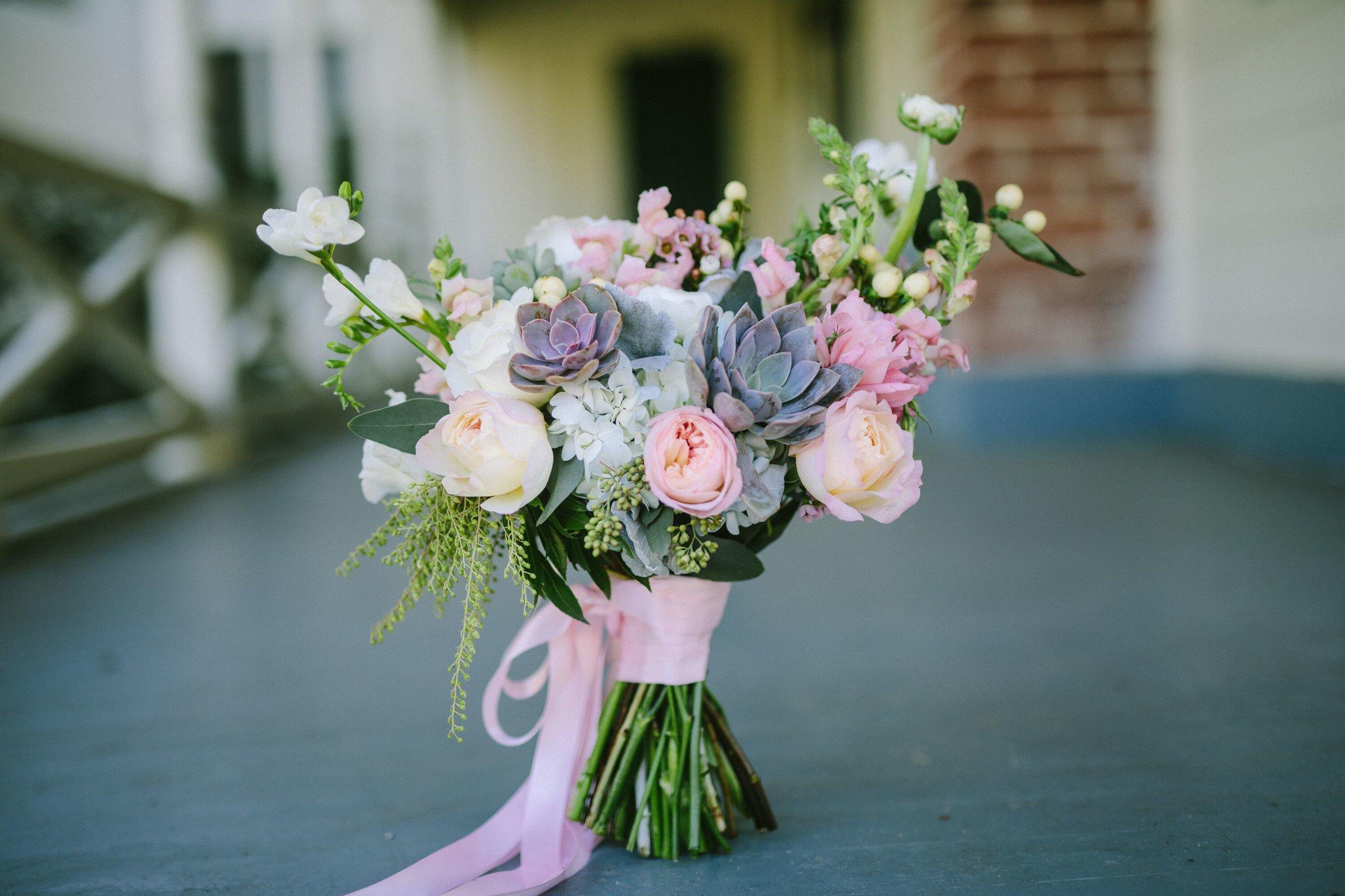 www.santabarbarawedding.com | Photographer: Patrick Ang | Venue: Rancho La Patera & Stow House | Wedding Planner: Elyse Rowen of Elyse Events | Bridal Bouquet