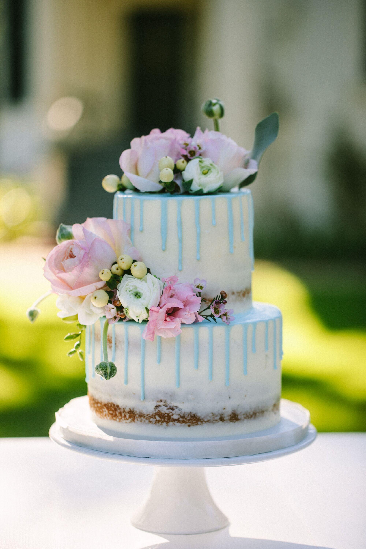 www.santabarbarawedding.com | Photographer: Patrick Ang | Venue: Rancho La Patera & Stow House | Wedding Planner: Elyse Rowen of Elyse Events | Wedding Cake Detail