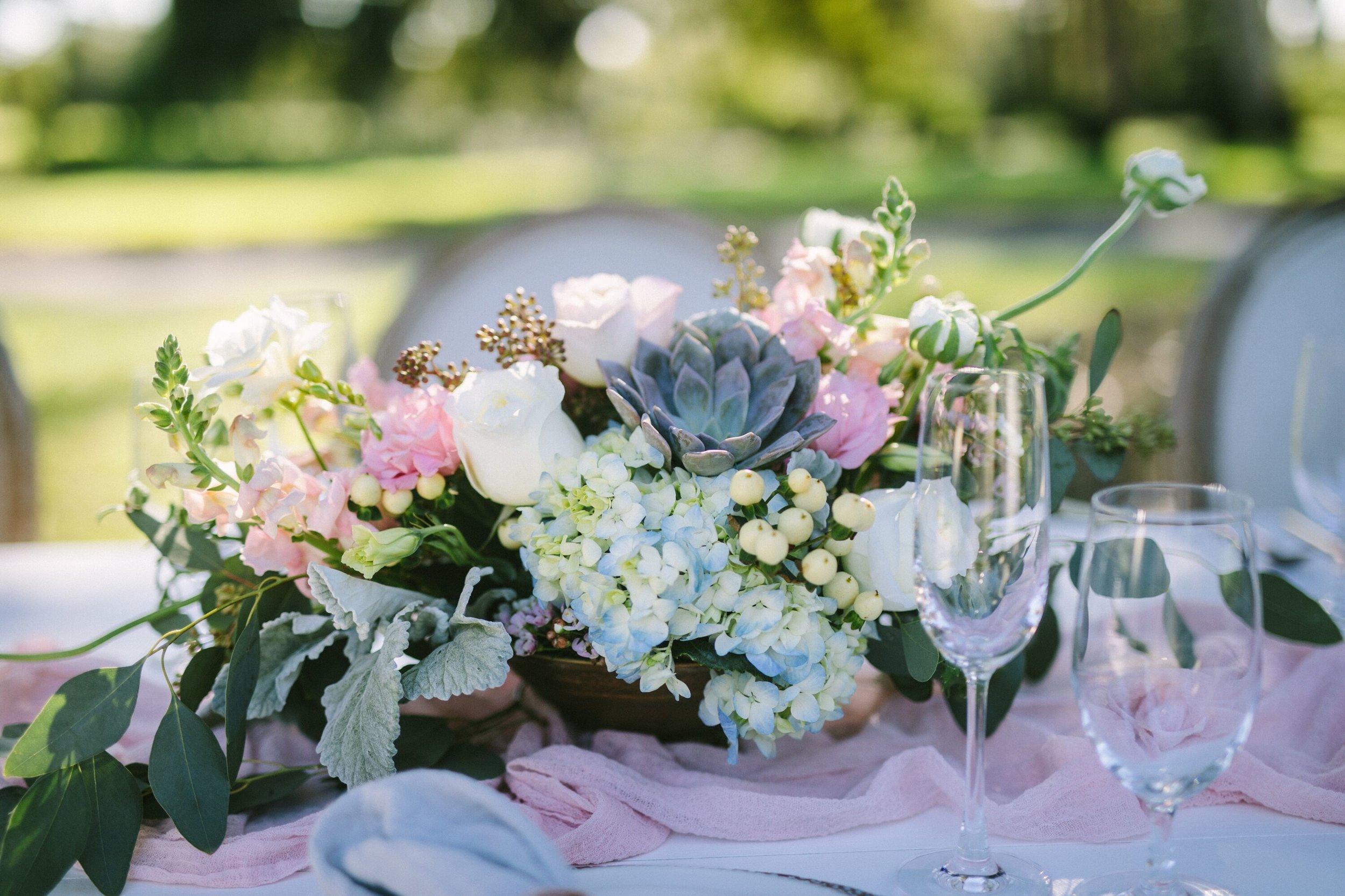 www.santabarbarawedding.com | Photographer: Patrick Ang | Venue: Rancho La Patera & Stow House | Wedding Planner: Elyse Rowen of Elyse Events | Tablescape