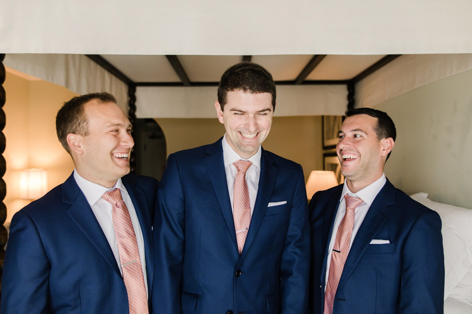 www.santabarbarawedding.com | Anna Delores Photography | Kimpton Canary Hotel | Onyx + Redwood | Groom Laughs With Groomsmen