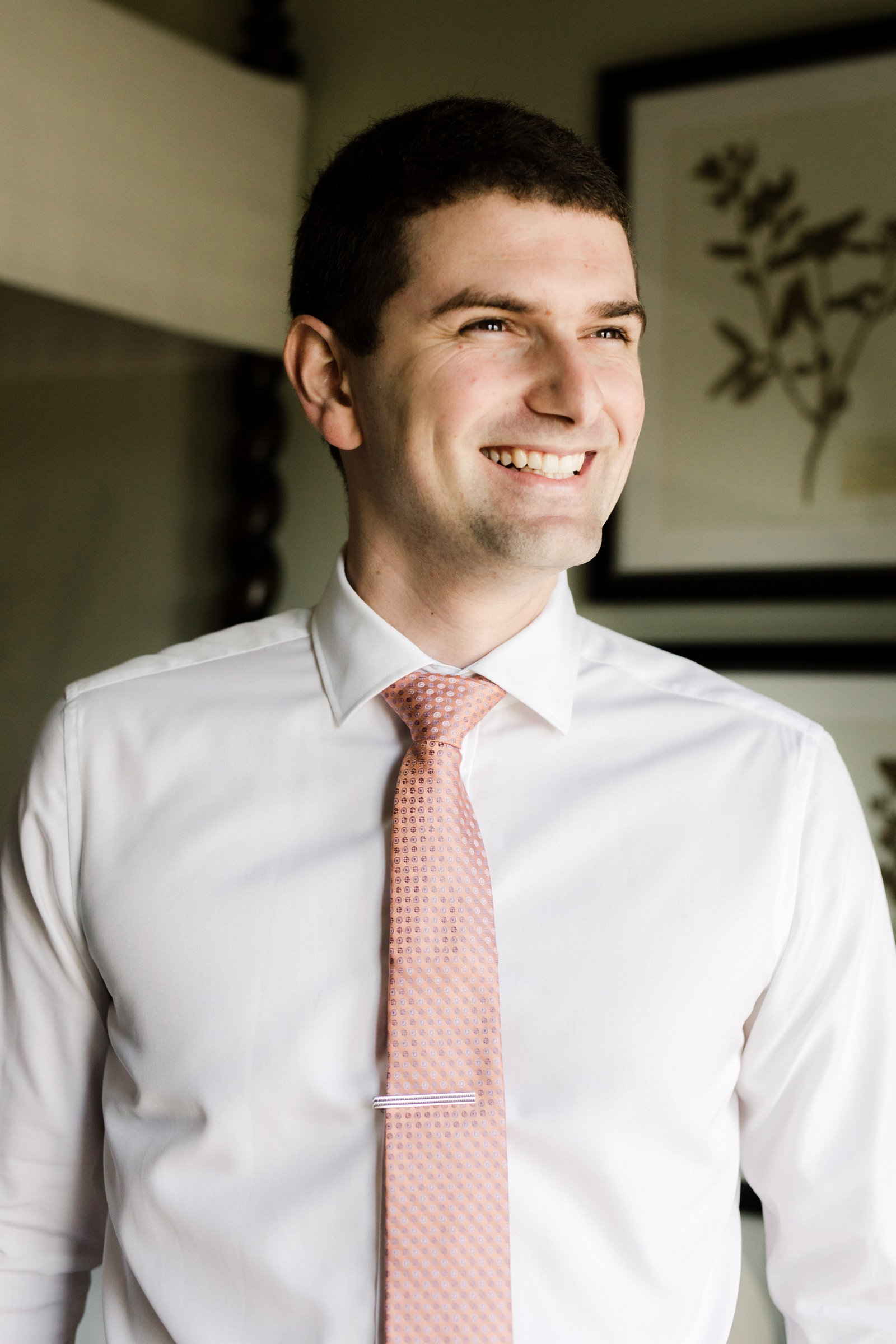 www.santabarbarawedding.com | Anna Delores Photography | Kimpton Canary Hotel | Onyx + Redwood | Groom Shows Off Pink Tie