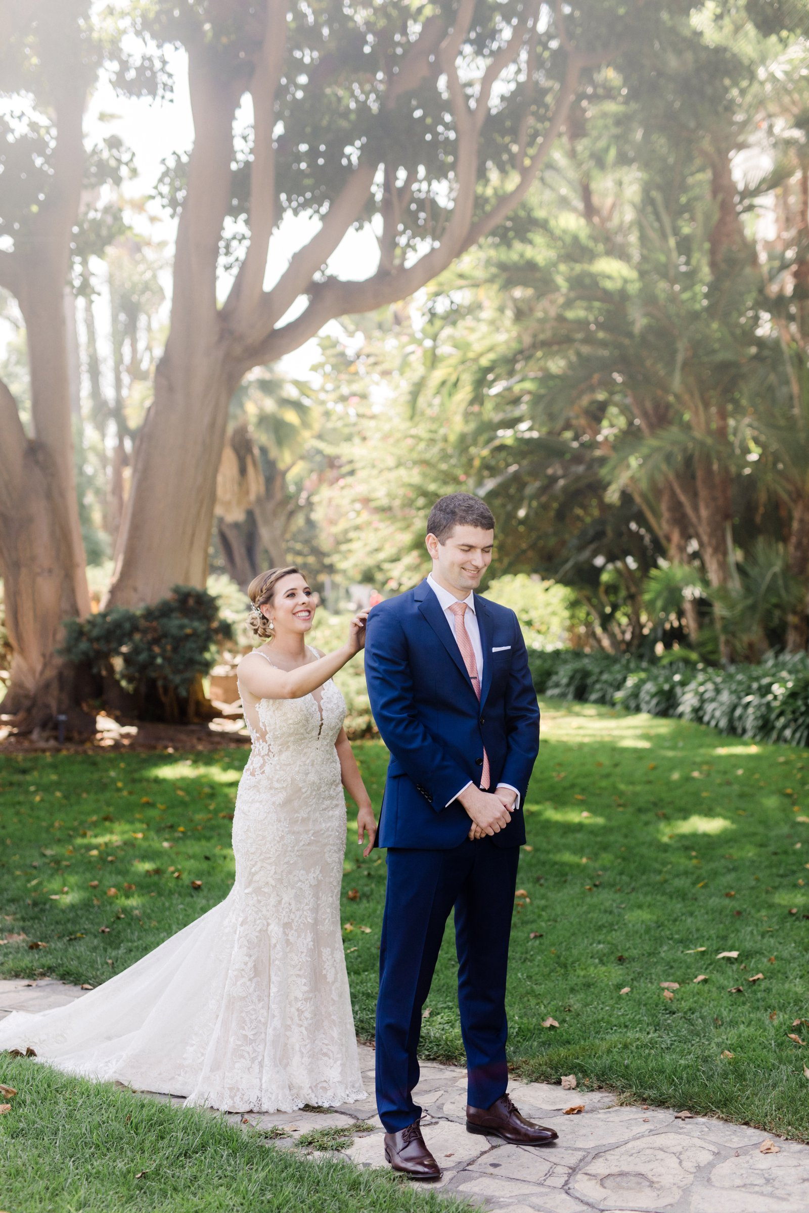 www.santabarbarawedding.com | Anna Delores Photography | Kimpton Canary Hotel | Onyx + Redwood | Martina Liana Bridal | Bride Surprises Groom