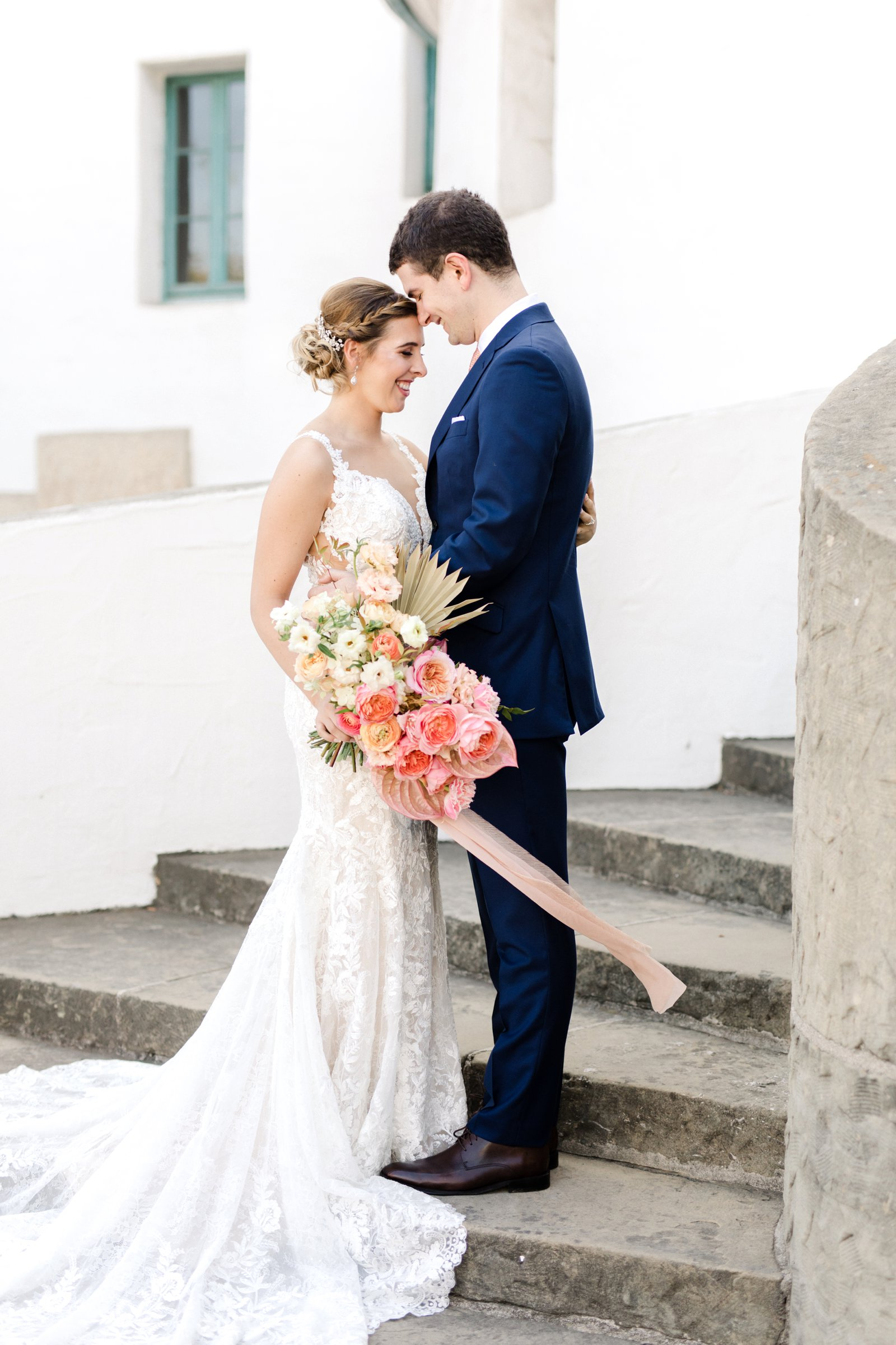 www.santabarbarawedding.com | Anna Delores Photography | Kimpton Canary Hotel | Onyx + Redwood | Martina Liana Bridal | Bride and Groom Share a Moment