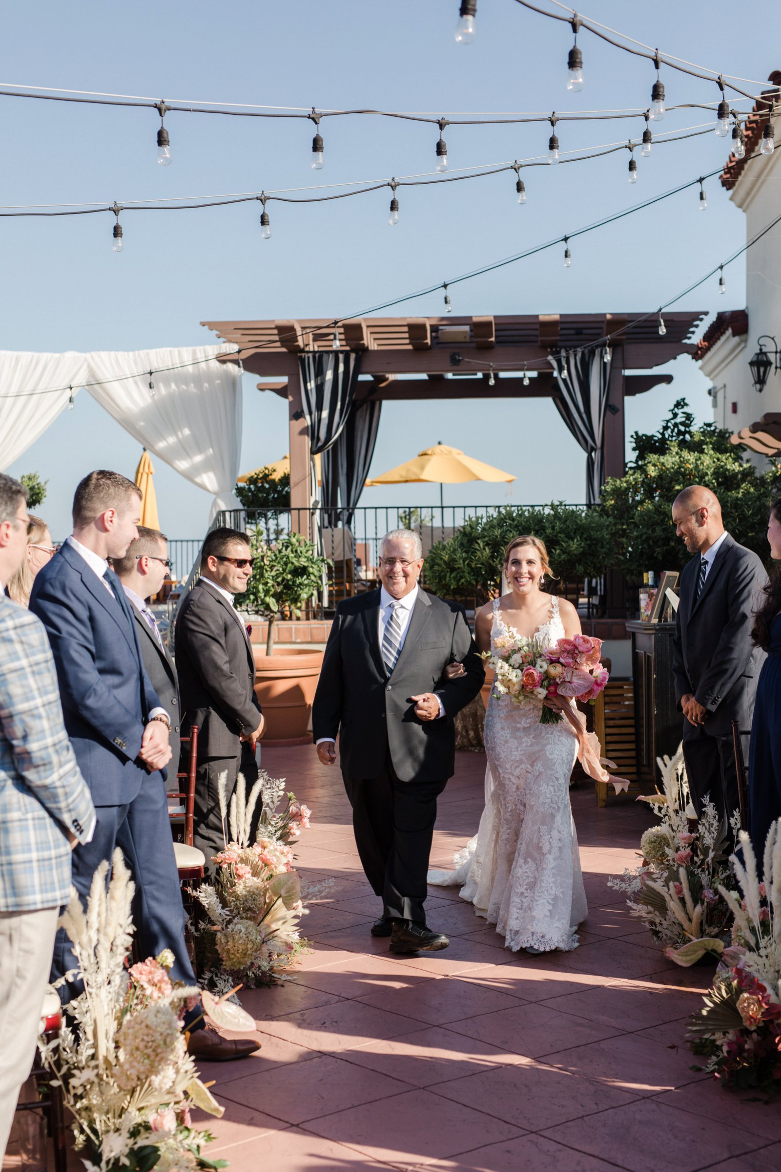 www.santabarbarawedding.com | Anna Delores Photography | Kimpton Canary Hotel | Onyx + Redwood | Bella Vista Designs | Father of the Bride Walks Her Down Aisle