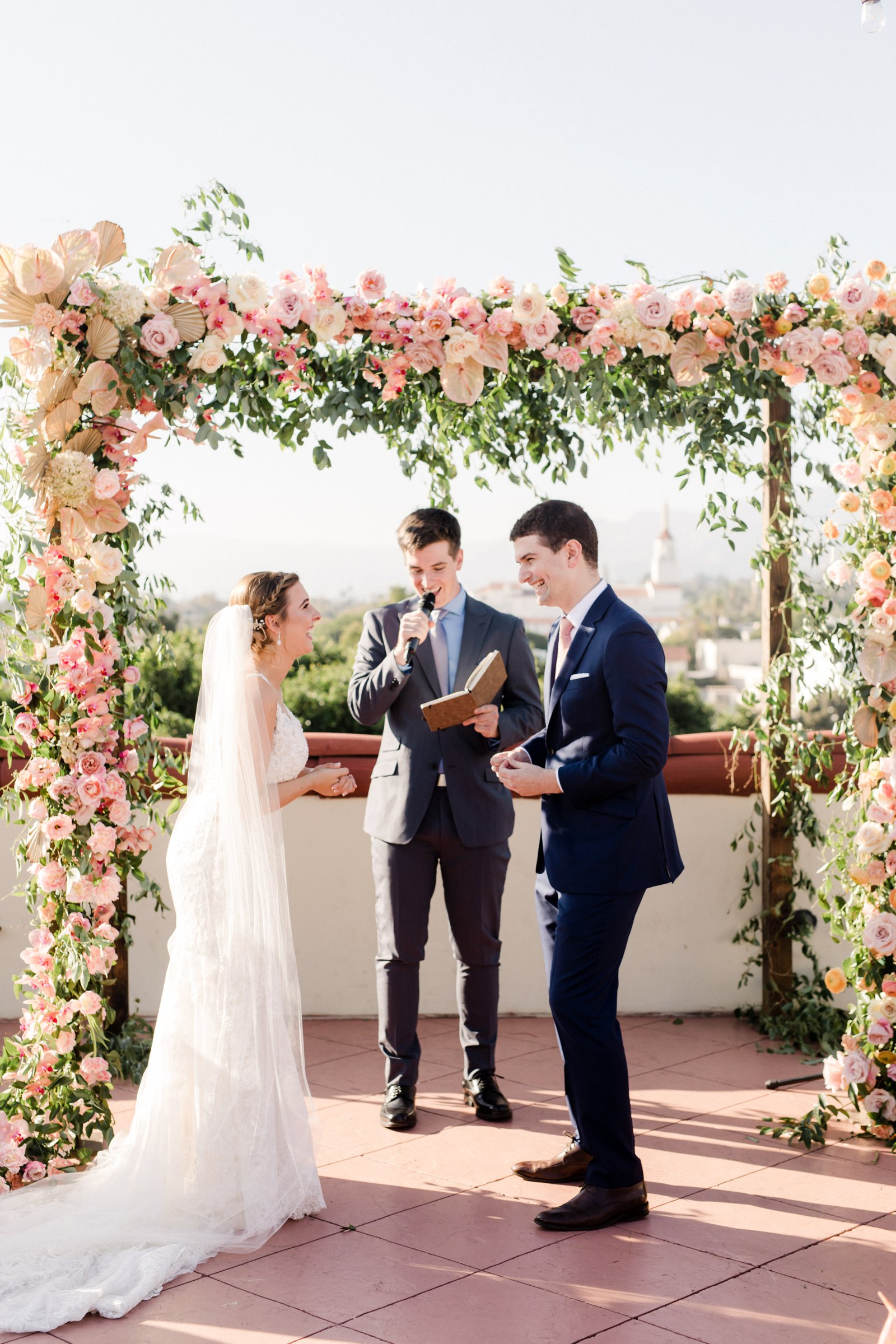 www.santabarbarawedding.com | Anna Delores Photography | Kimpton Canary Hotel | Onyx + Redwood | Idlewild Floral | Bride and Groom During Ceremony