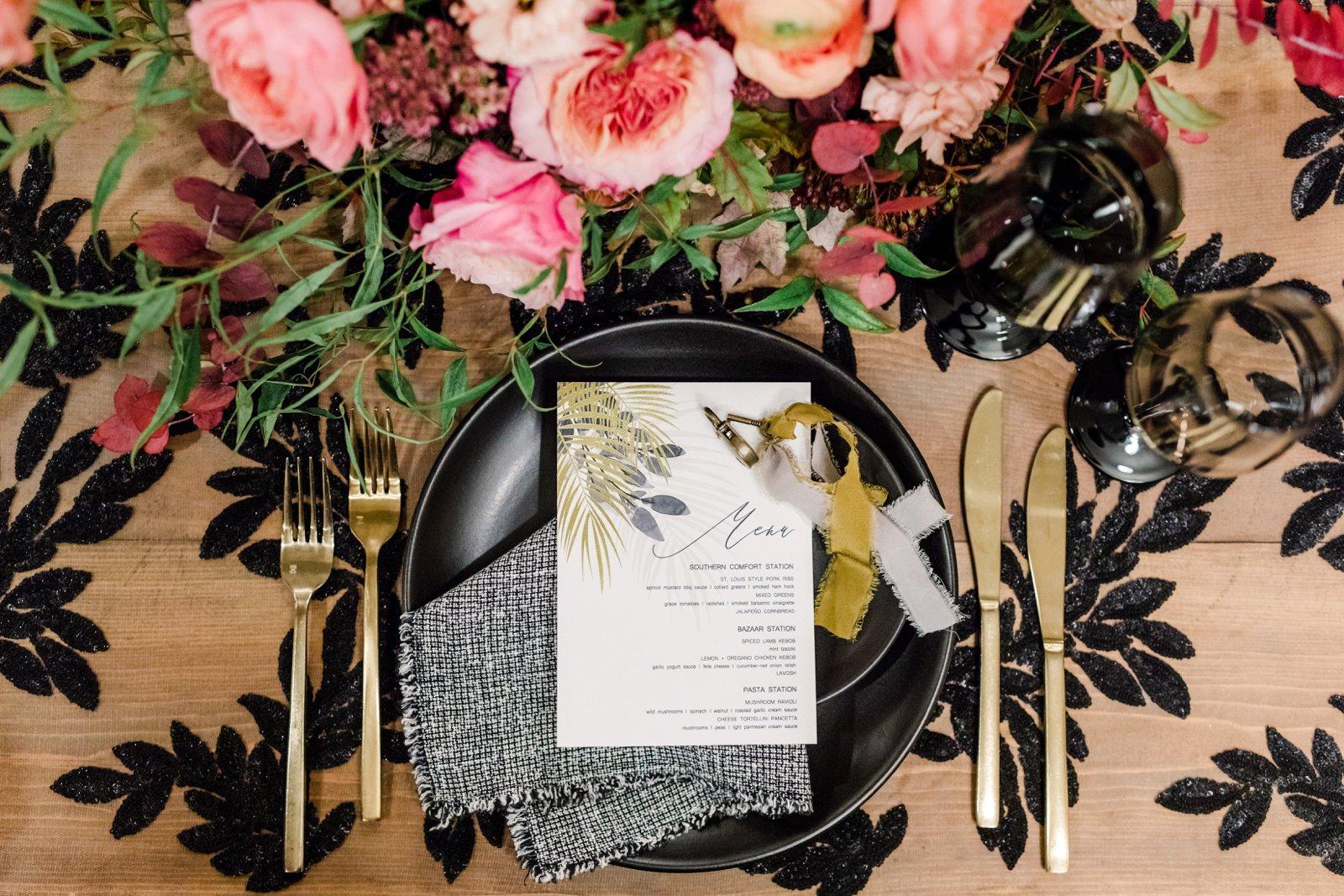 www.santabarbarawedding.com | Anna Delores Photography | Kimpton Canary Hotel | Onyx + Redwood | Elan Event Rentals | La Tavola Linen | Place Settings