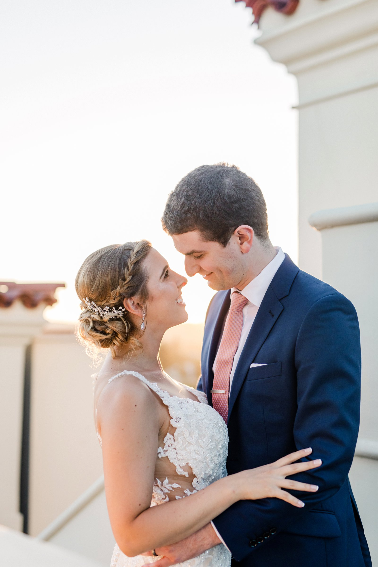 www.santabarbarawedding.com | Anna Delores Photography | Kimpton Canary Hotel | Onyx + Redwood | Martina Liana Bridal | Bride and Groom Embrace