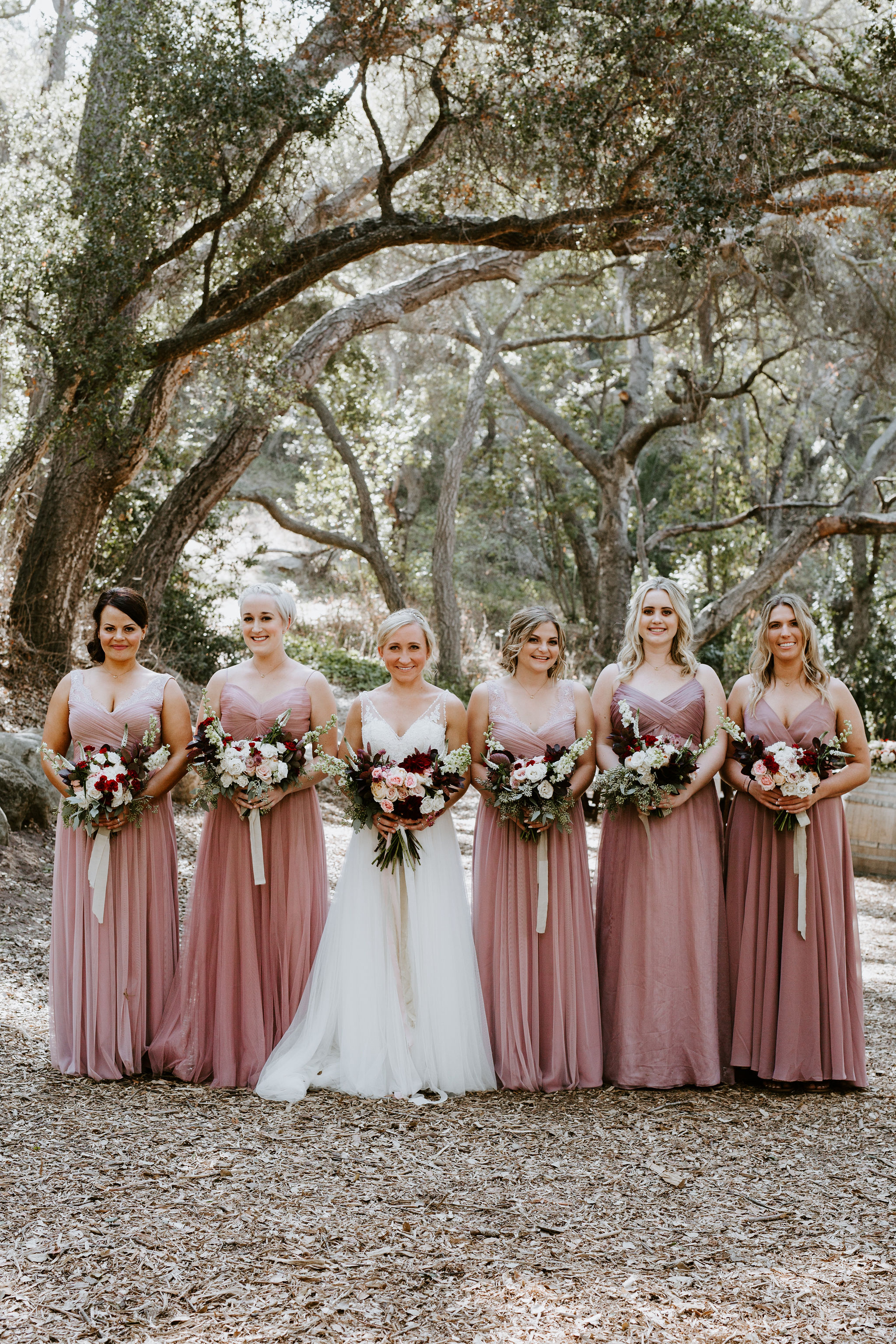 www.santabarbarawedding.com | Geoff and Lyndsi Photography | Santa Barbara Museum of Natural History | Jamie Mangone of LuJane Events | Topa Flora | Bride and Bridesmaids