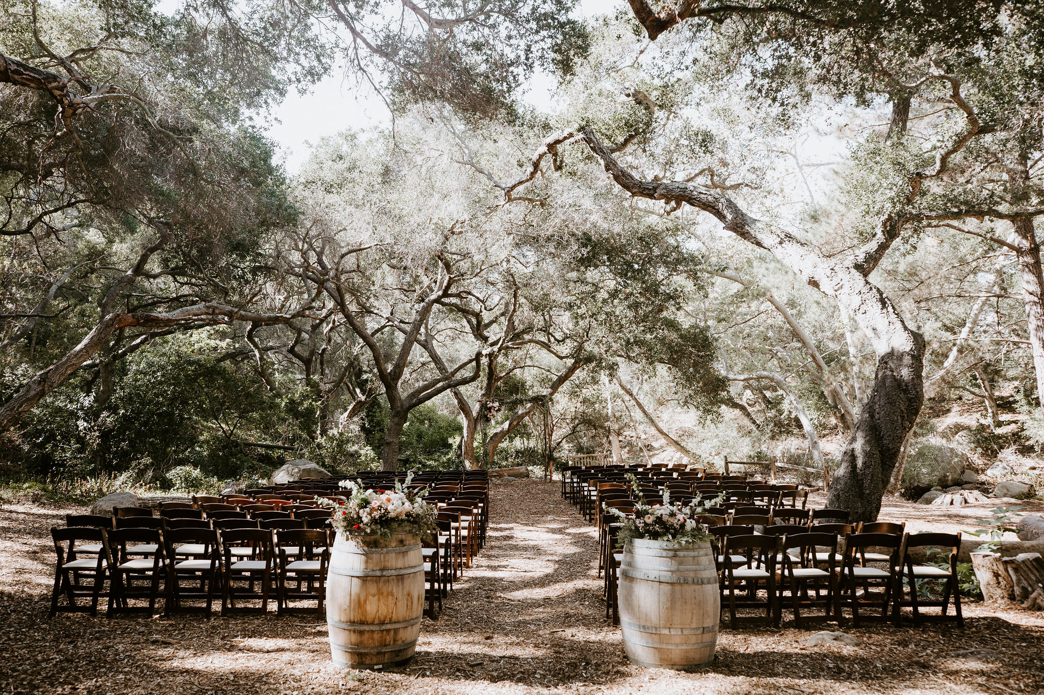 www.santabarbarawedding.com | Geoff and Lyndsi Photography | Santa Barbara Museum of Natural History | Jamie Mangone of LuJane Events | Topa Flora | Ceremony Set Up