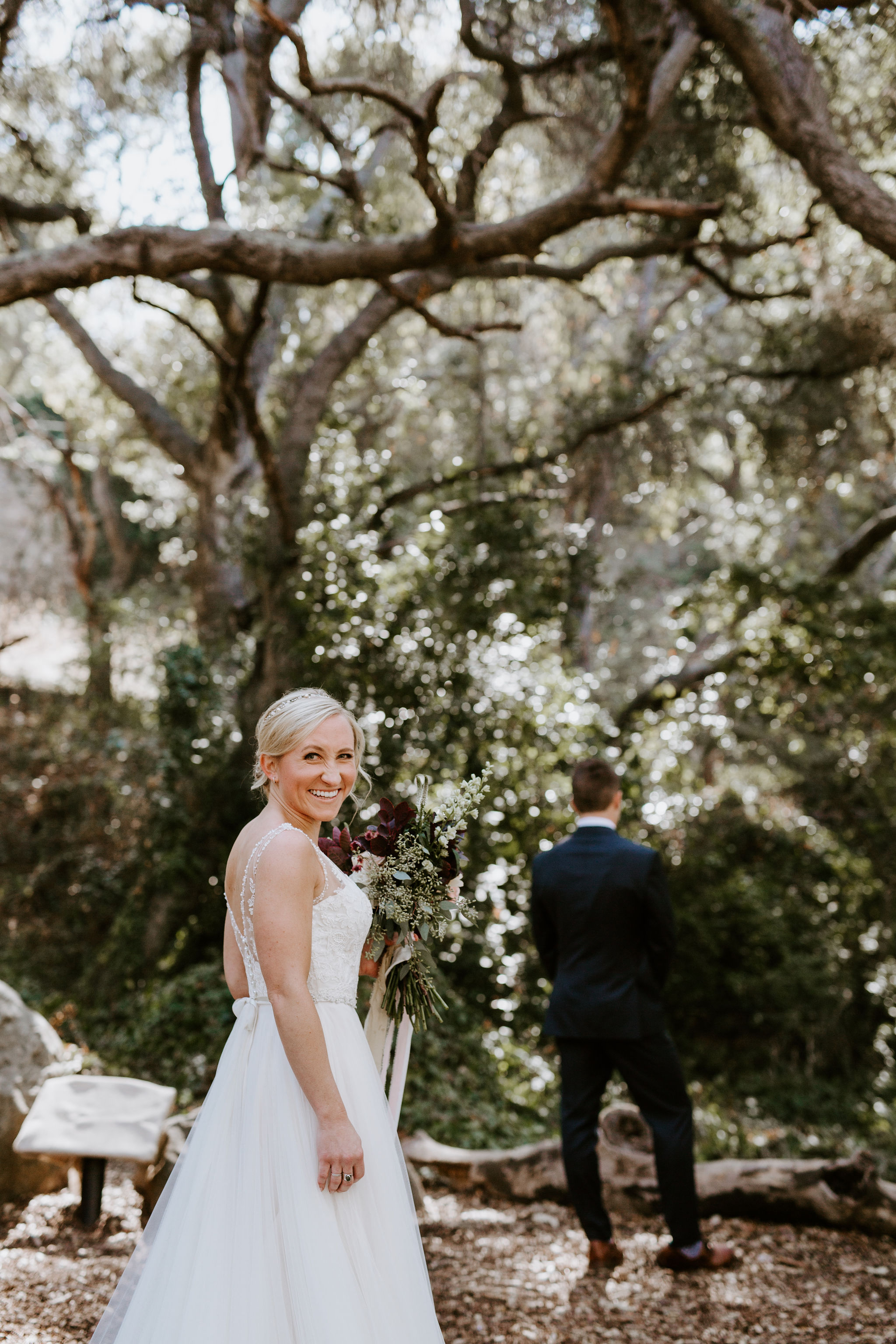 www.santabarbarawedding.com | Geoff and Lyndsi Photography | Santa Barbara Museum of Natural History | Jamie Mangone of LuJane Events | Topa Flora | First Look