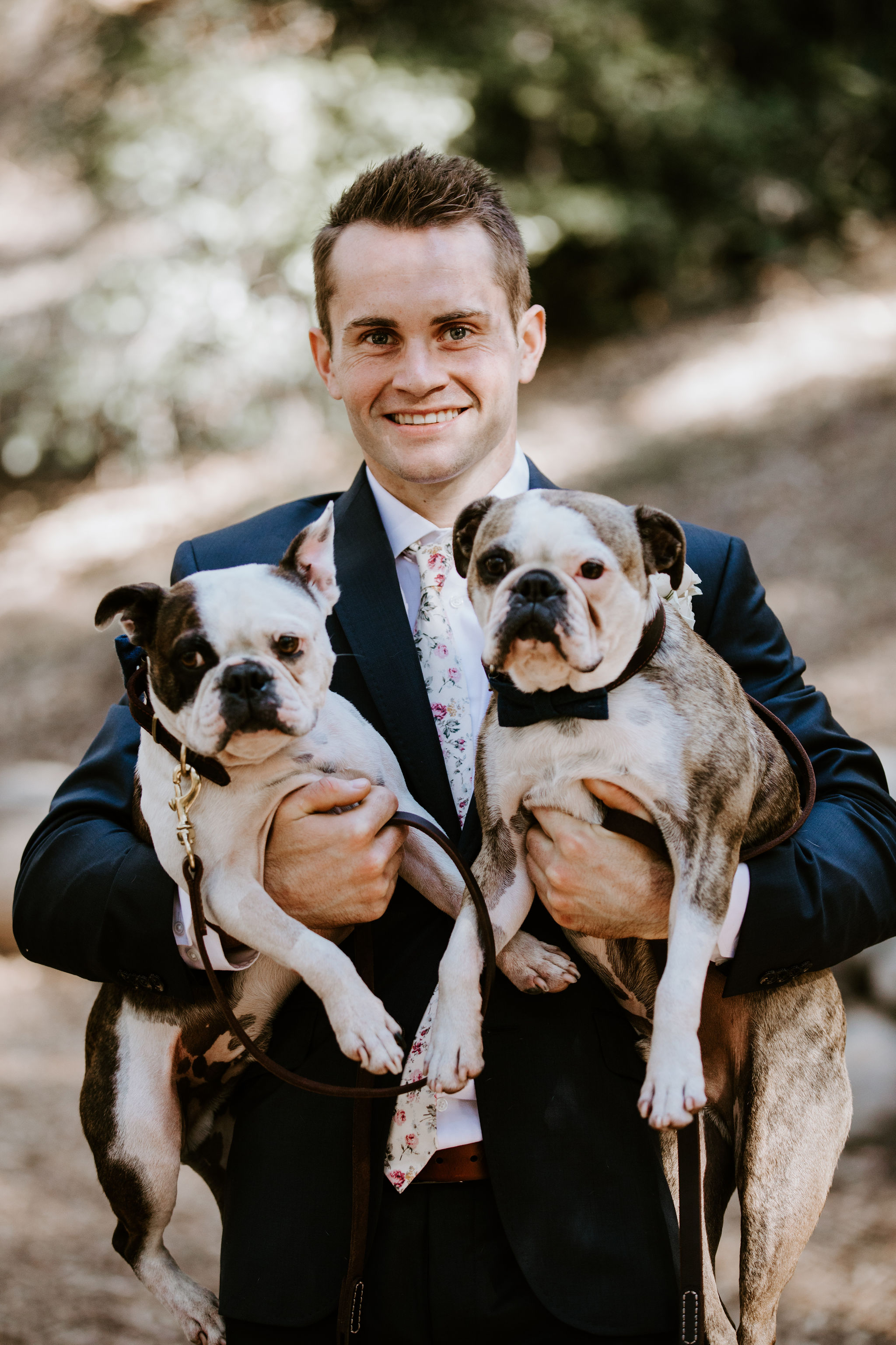 www.santabarbarawedding.com | Geoff and Lyndsi Photography | Santa Barbara Museum of Natural History | Jamie Mangone of LuJane Events | Groom with His Dogs