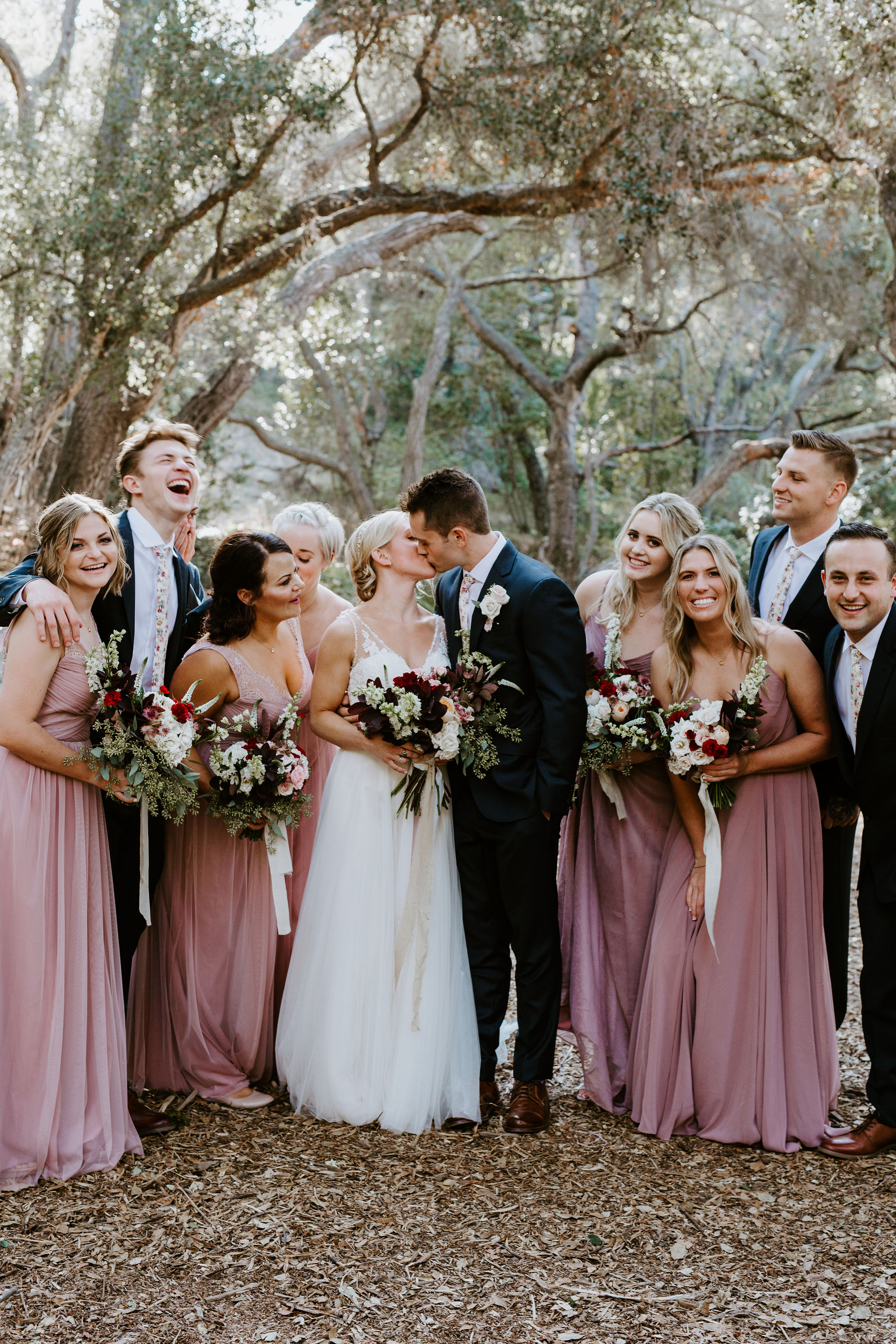 www.santabarbarawedding.com | Geoff and Lyndsi Photography | Santa Barbara Museum of Natural History | Jamie Mangone of LuJane Events | Topa Flora | Bridal Party