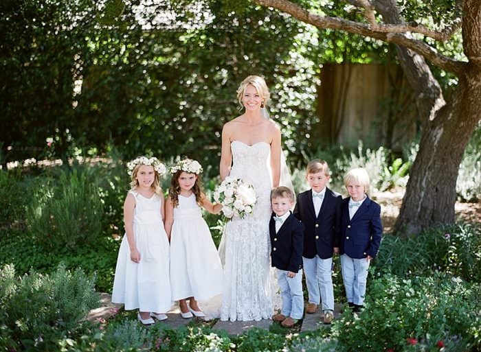 www.santabarbarawedding.com | Kristen Beinke | San Ysidro Ranch | Alexandra Kolendrianos | TOAST | Monique L'huillier | Bride with Children