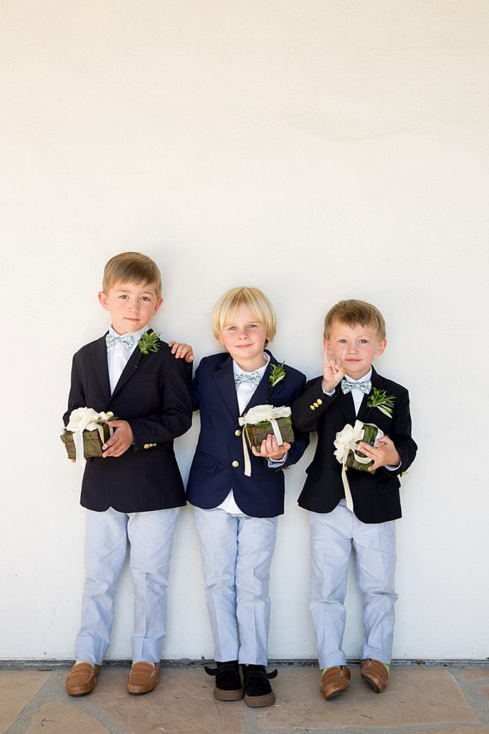 www.santabarbarawedding.com | Kristen Beinke | San Ysidro Ranch | Alexandra Kolendrianos | TOAST | Little Boys with Flowers
