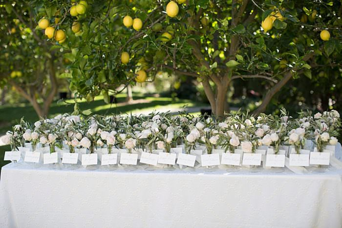 www.santabarbarawedding.com | Kristen Beinke | San Ysidro Ranch | Alexandra Kolendrianos | TOAST | Bella Vista Designs | Guests Table Assignments with Flowers