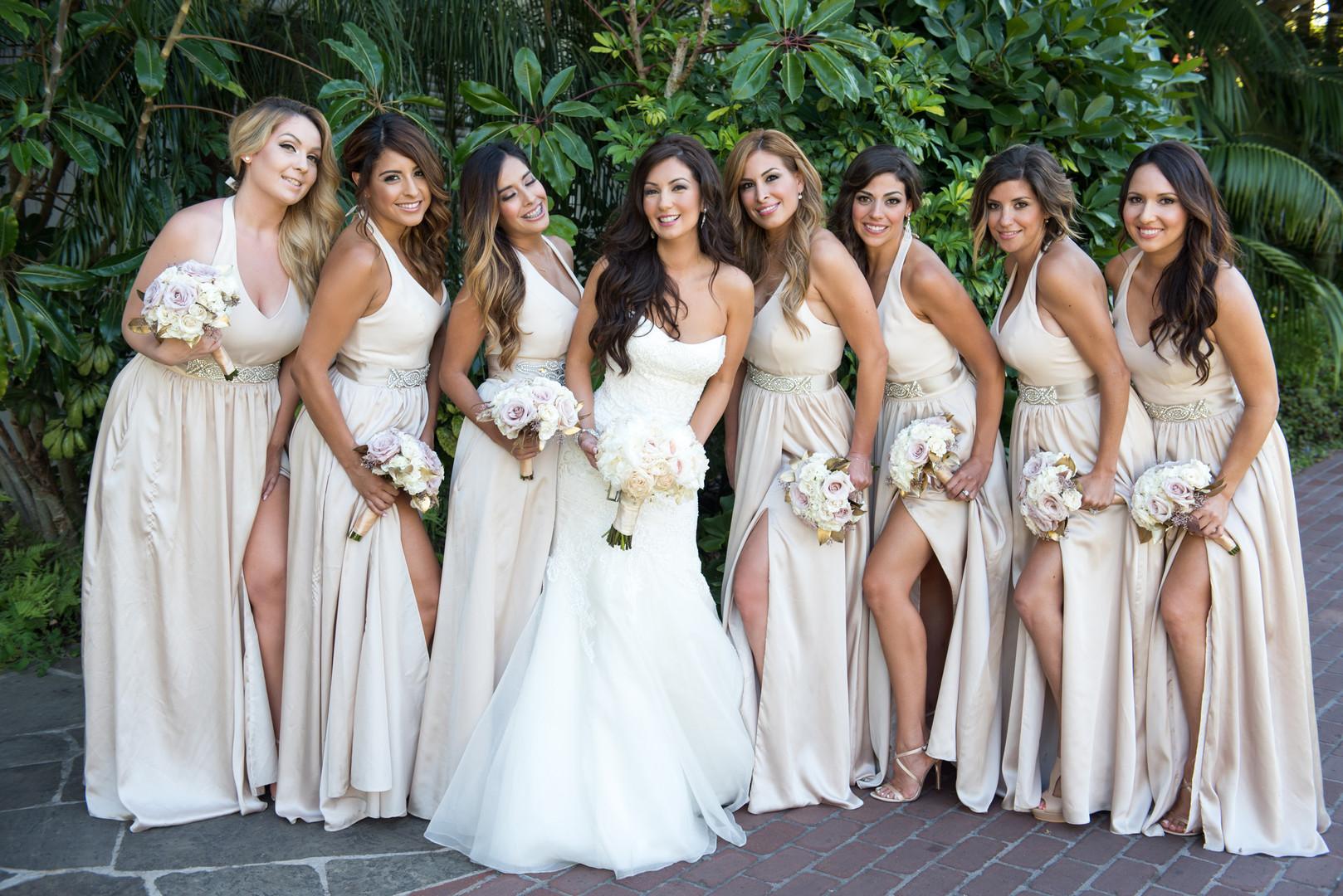 www.santabarbarawedding.com   The Big Affair   Four Seasons The Biltmore Santa Barbara   Asiel Designs   Bridal Party