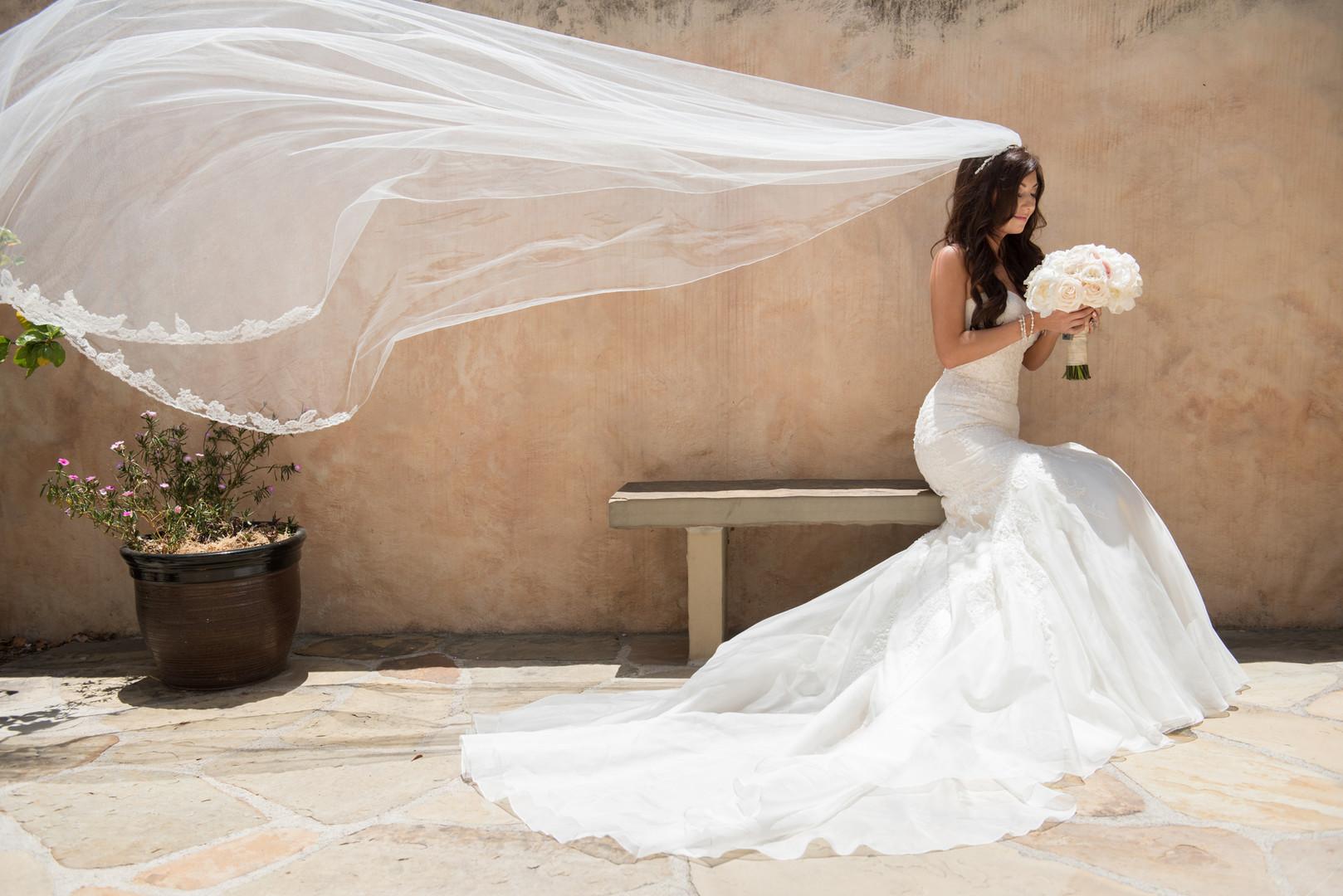 www.santabarbarawedding.com   The Big Affair   Our Lady of Mount Carmel   Asiel Designs   Bridal Portrait