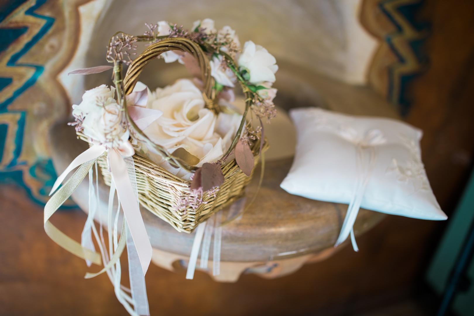 www.santabarbarawedding.com   The Big Affair   Four Seasons The Biltmore Santa Barbara   Asiel Designs   Flower Girl Basket and Ring Bearer Pillow
