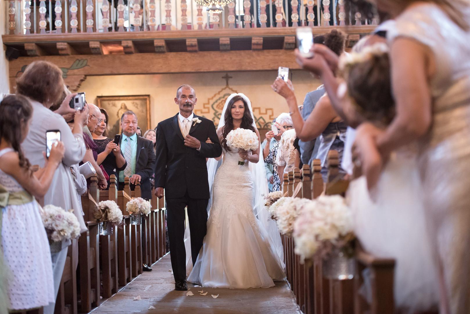 www.santabarbarawedding.com   The Big Affair   Our Lady of Mount Carmel   Asiel Designs   Wedding Ceremony