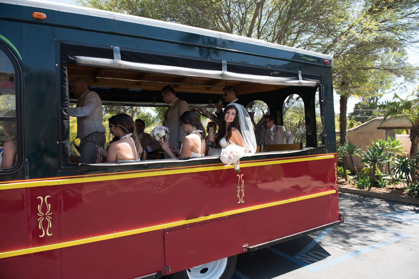 www.santabarbarawedding.com   The Big Affair   Our Lady of Mount Carmel   Asiel Designs   Santa Barbara Trolley   Wedding Trolley